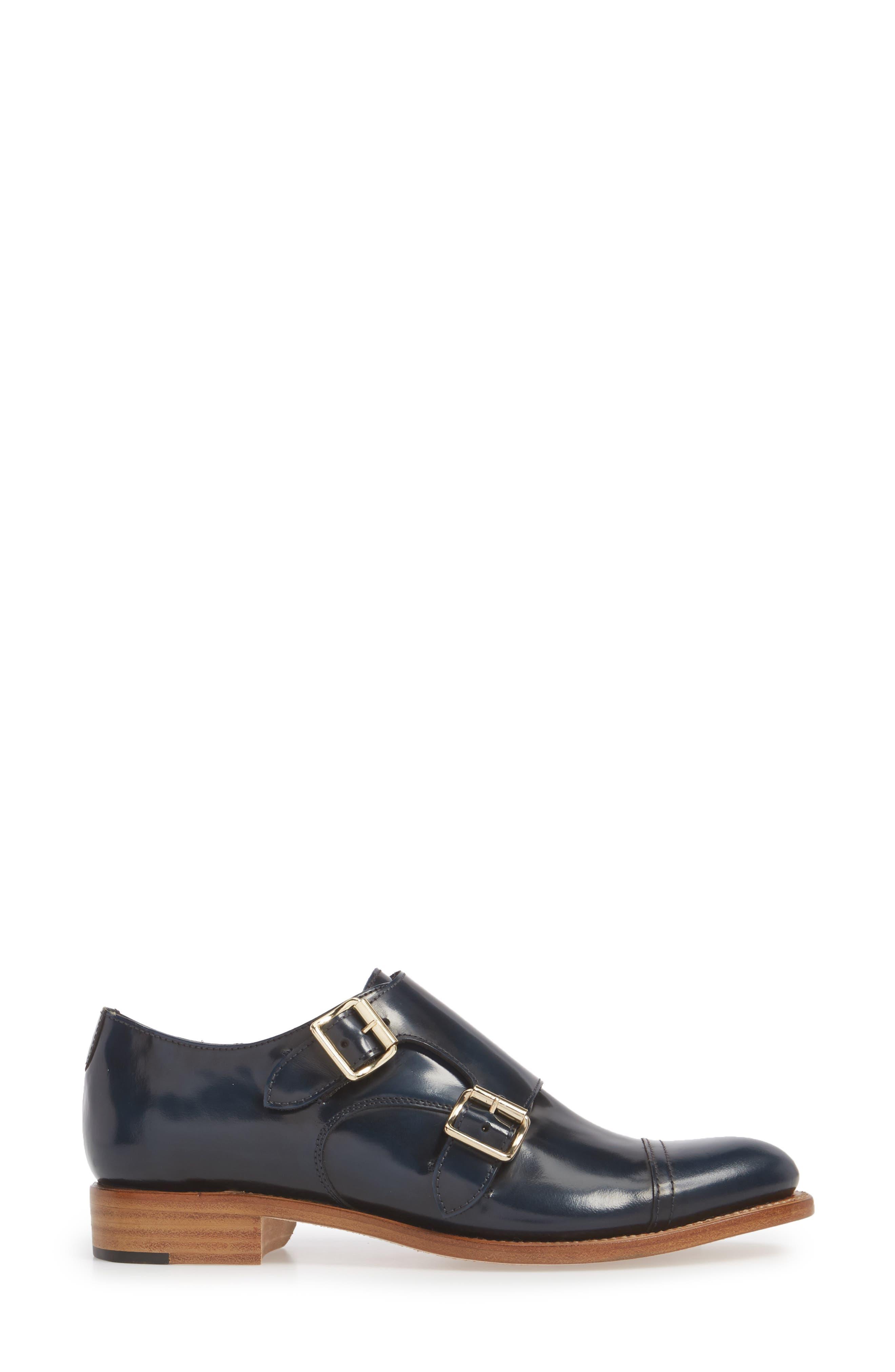 Mr. Colin Double Monk Strap Shoe,                             Alternate thumbnail 3, color,                             Ocean