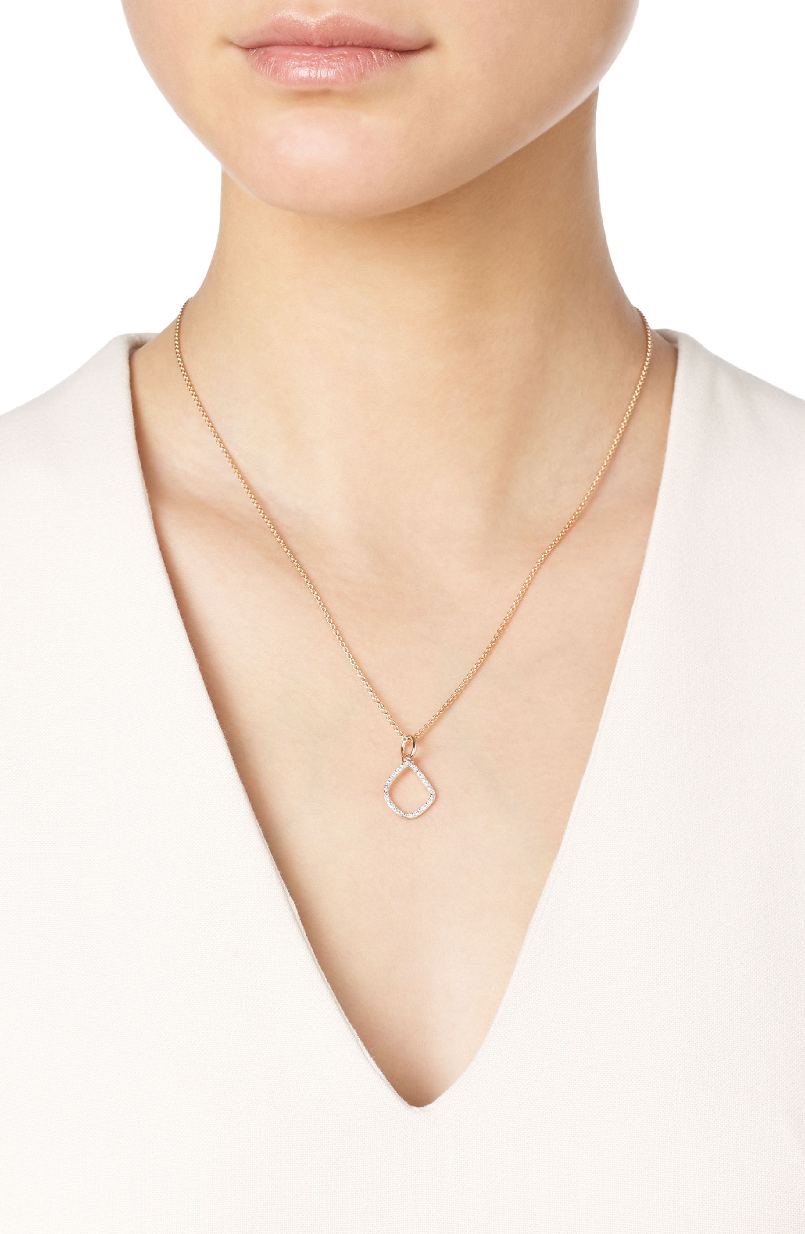 Alternate Image 2  - Monica Vinader Riva Diamond Kite Pendant