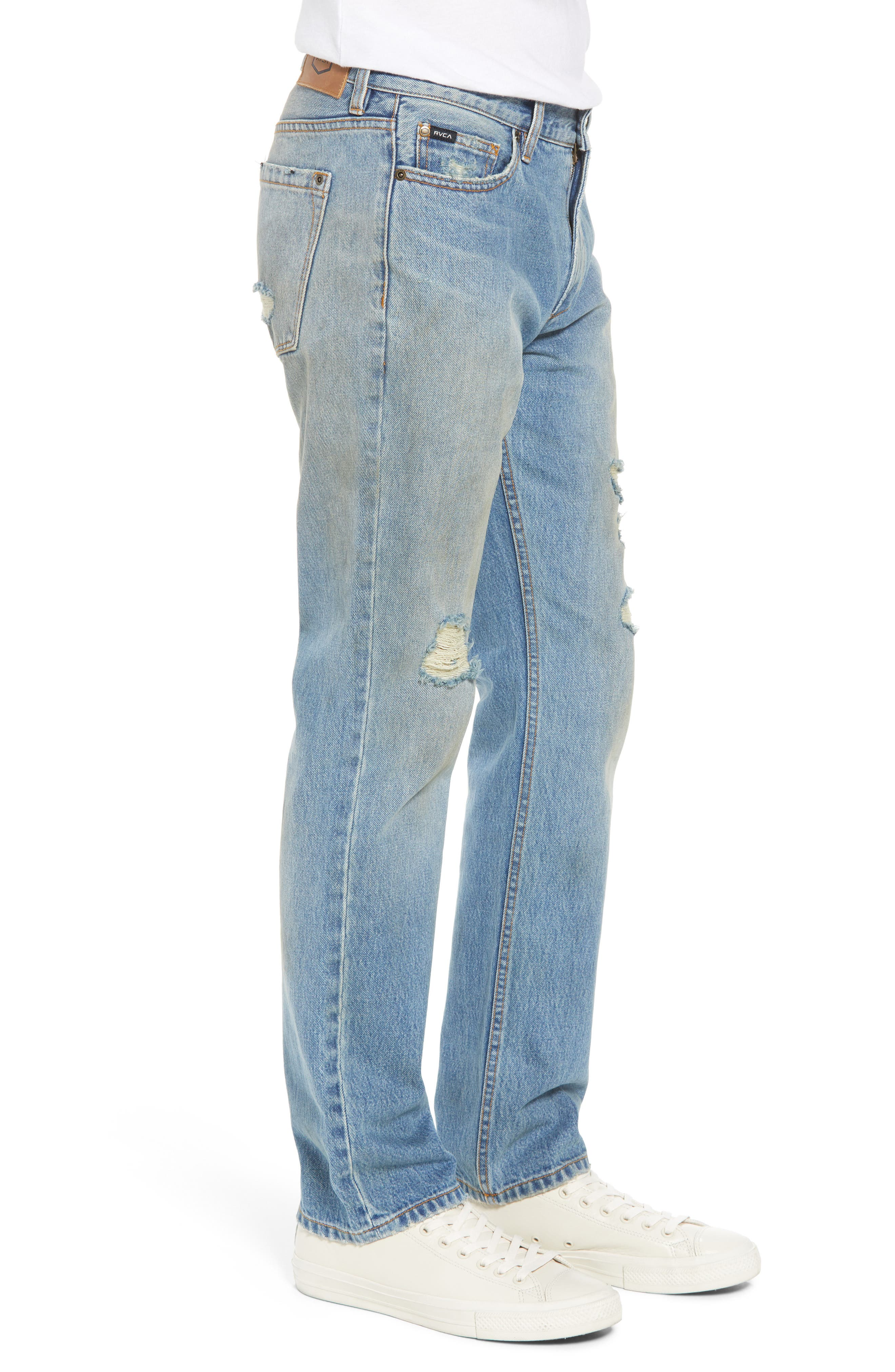 Stay RVCA Slim Fit Jeans,                             Alternate thumbnail 3, color,                             Blue