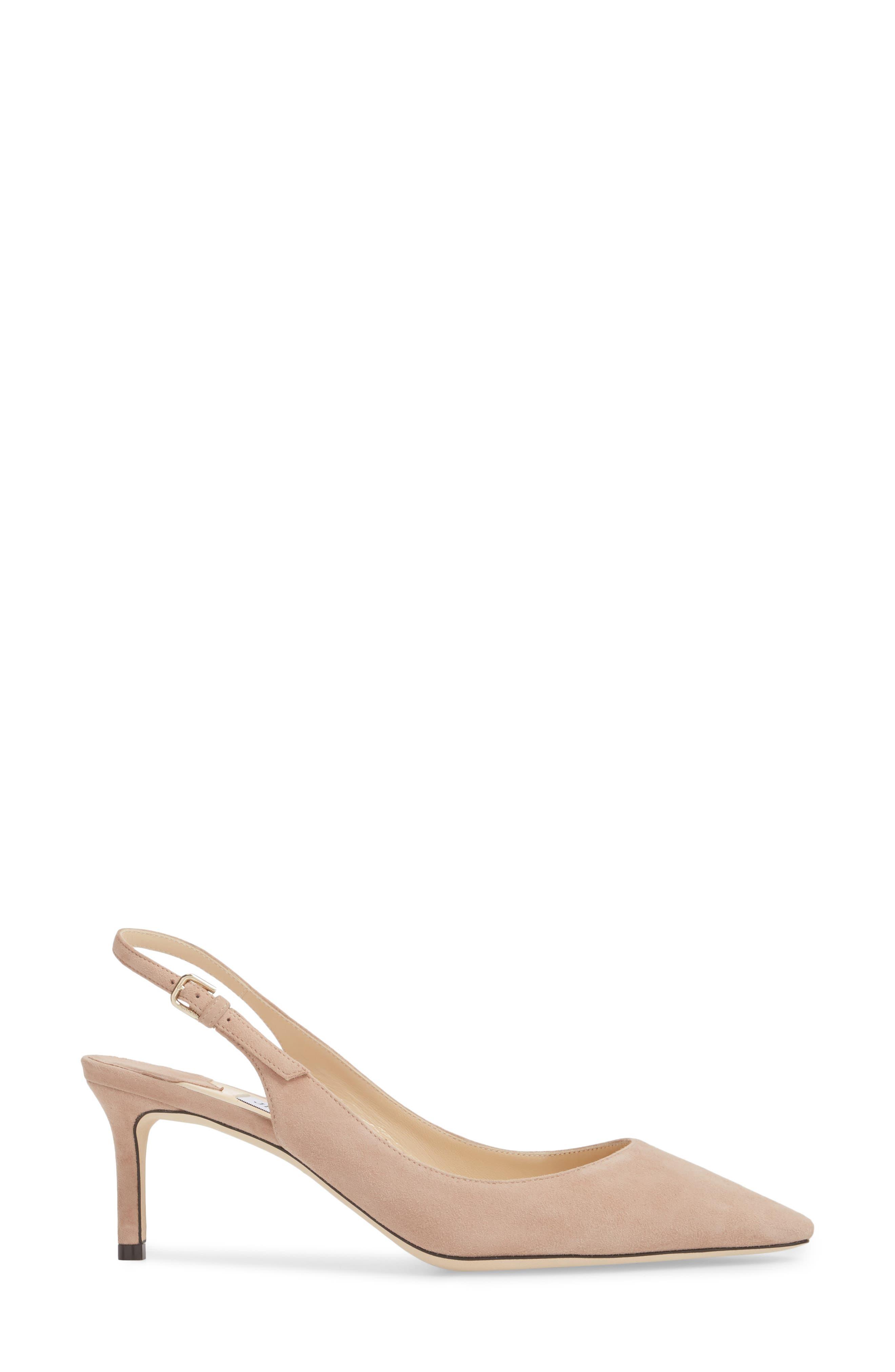 Erin Pointy Toe Slingback Pump,                             Alternate thumbnail 3, color,                             Ballet Pink