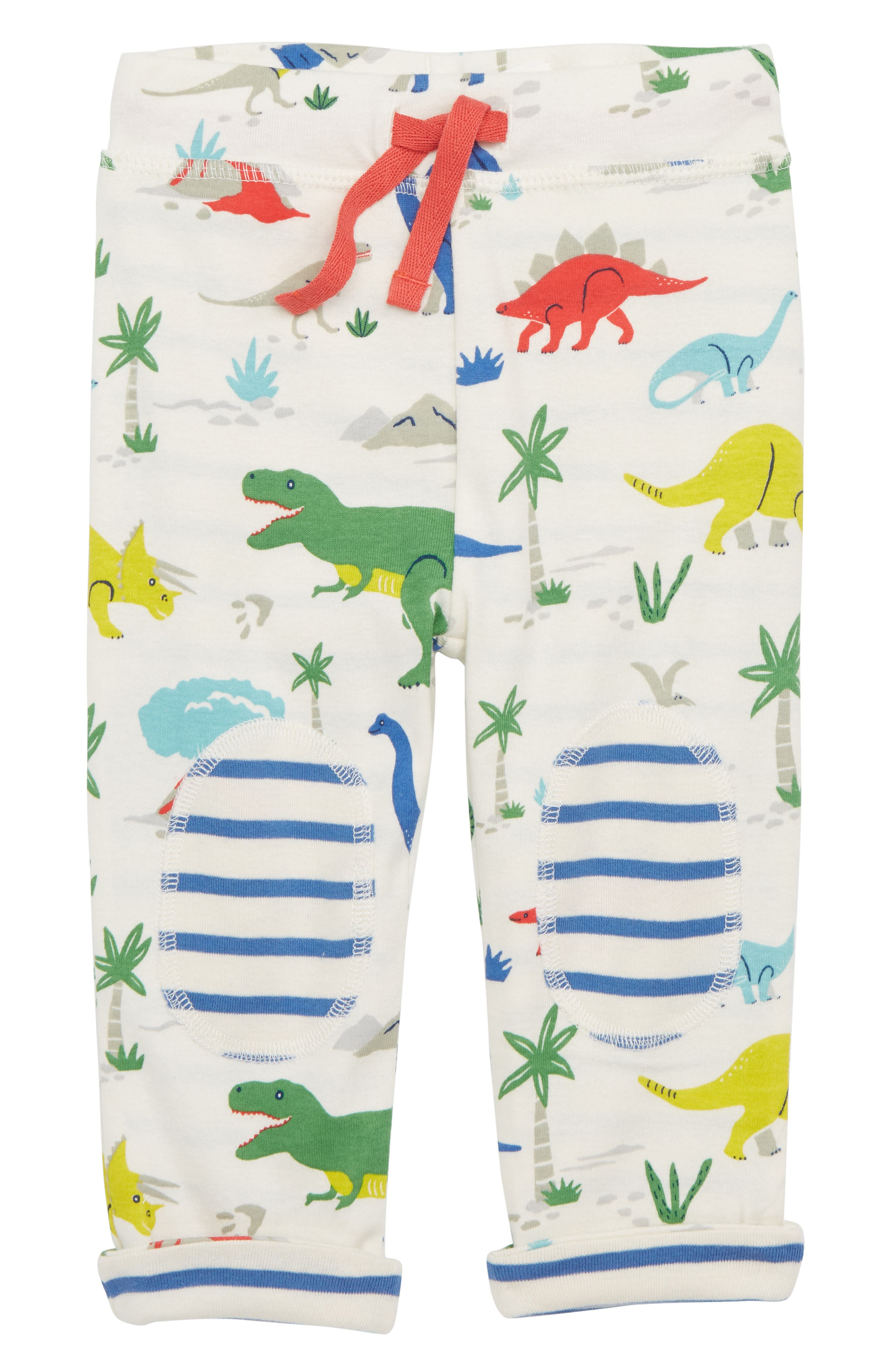 Mini Boden Dinosaur Reversible Knee Patch Pants (Baby Boys & Toddler Boys)
