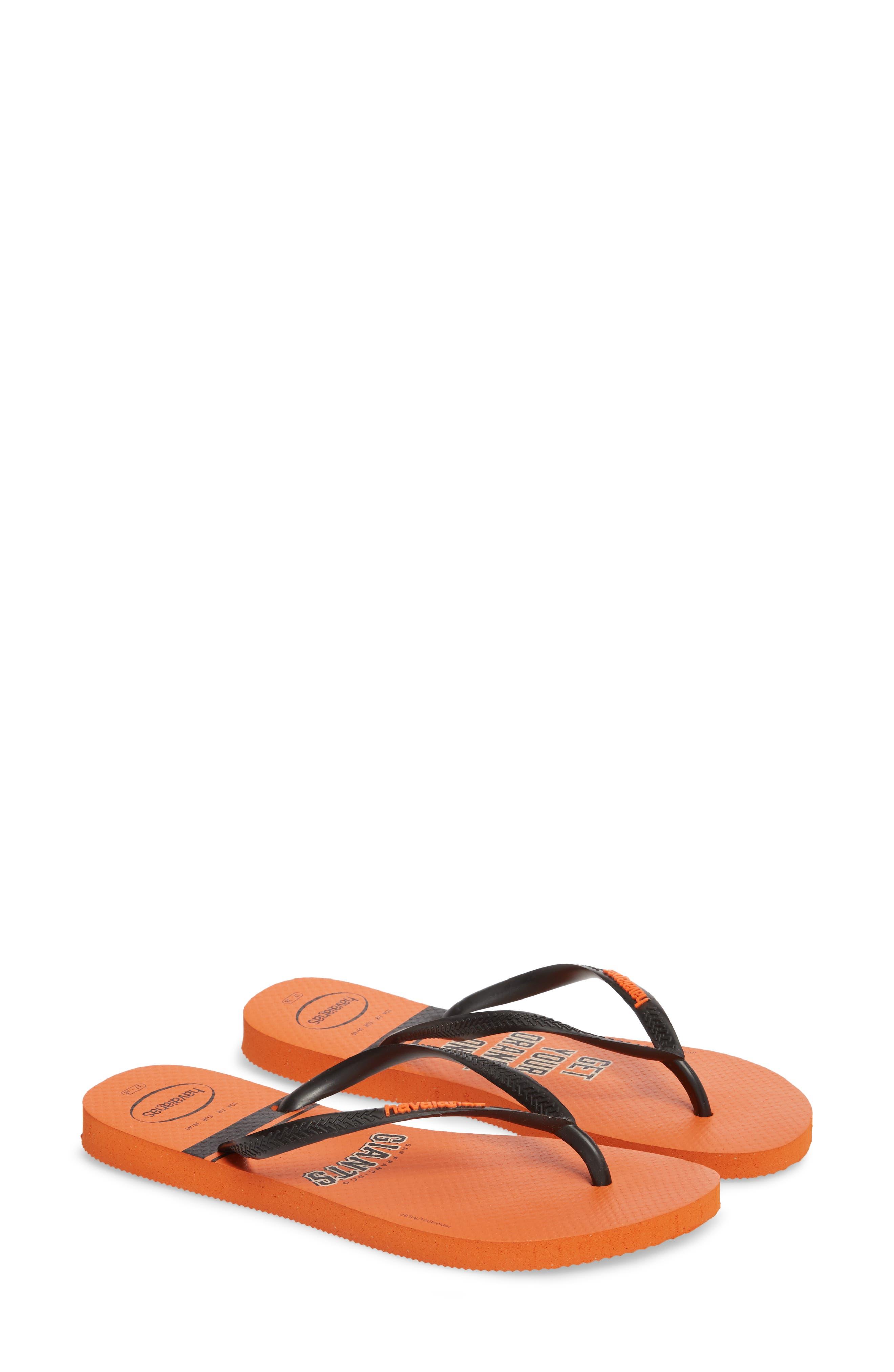 Slim MLB Flip Flop,                             Alternate thumbnail 2, color,                             Neon Orange