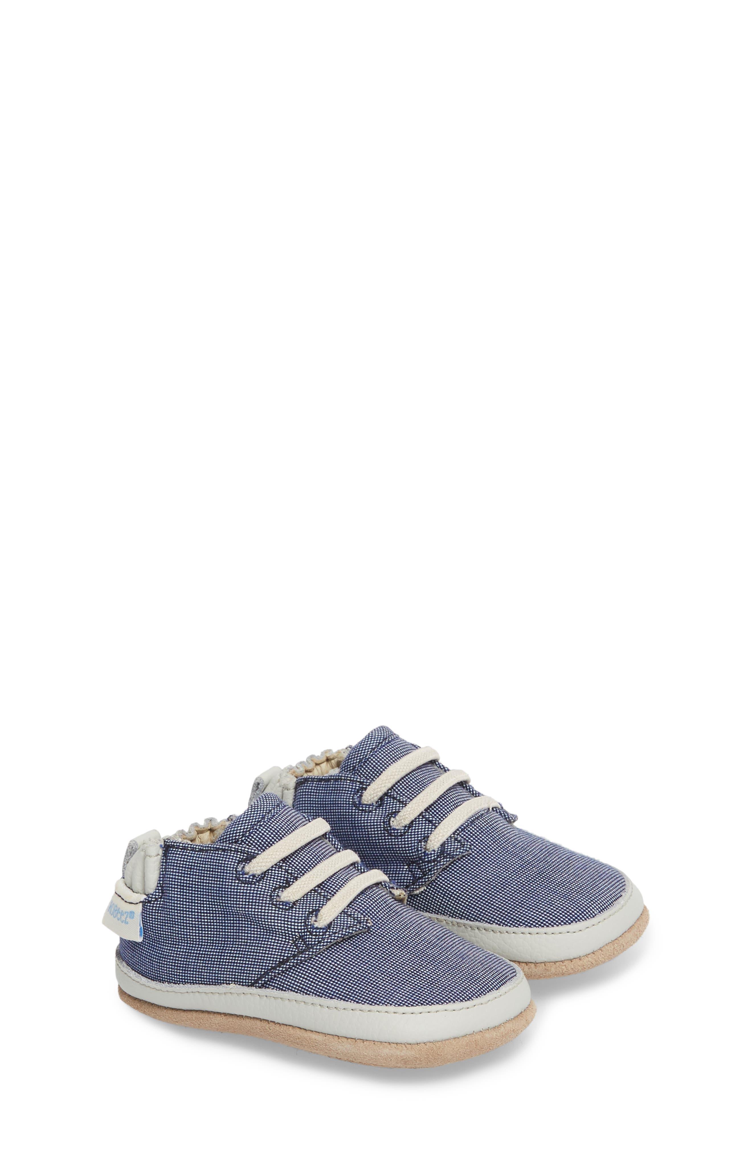 Steven Crib Sneaker,                             Alternate thumbnail 3, color,                             Denim
