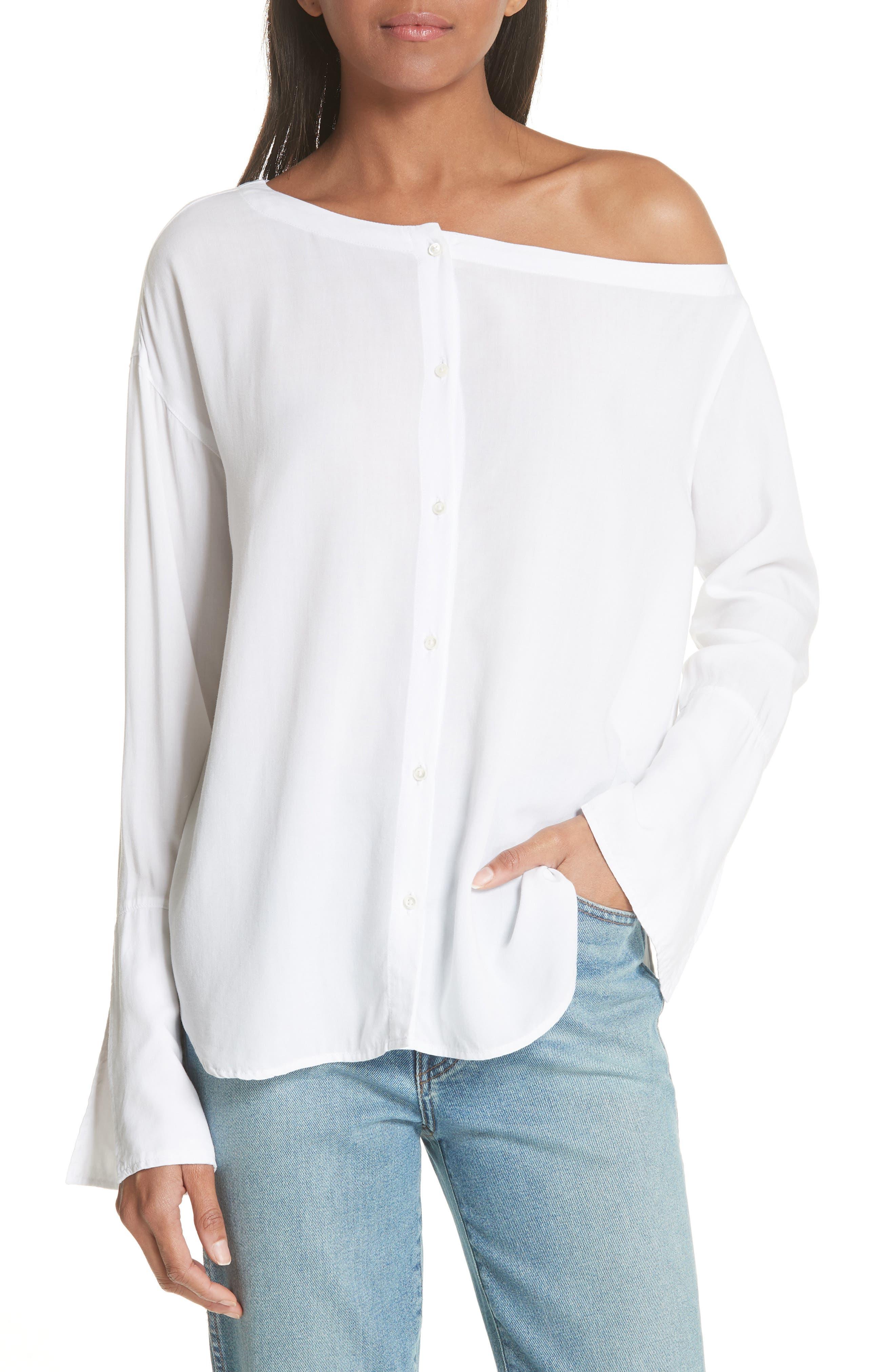 Faye Top,                         Main,                         color, Blanc