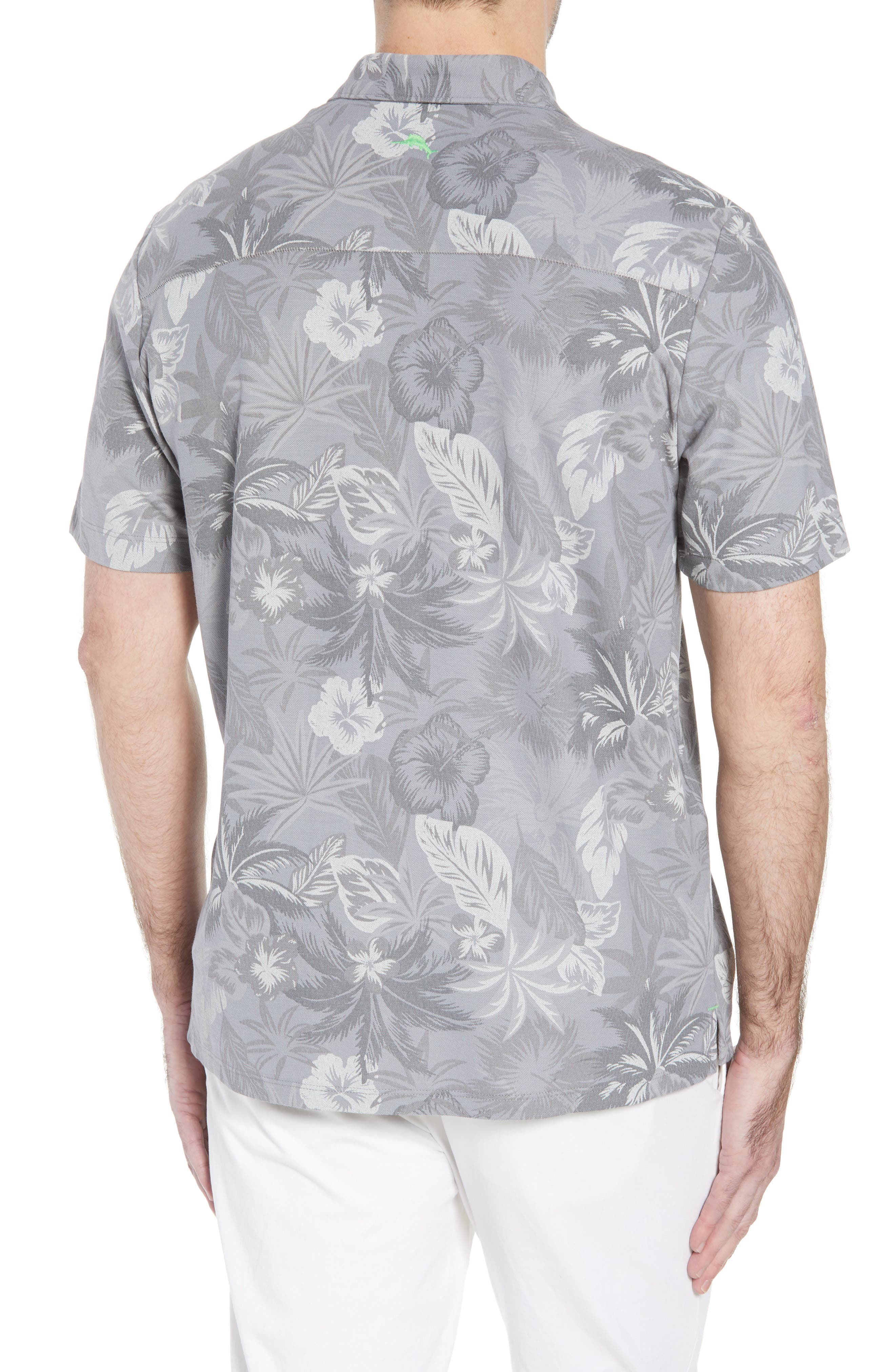 Fuego Floral Camp Shirt,                             Alternate thumbnail 2, color,                             Iced Slate