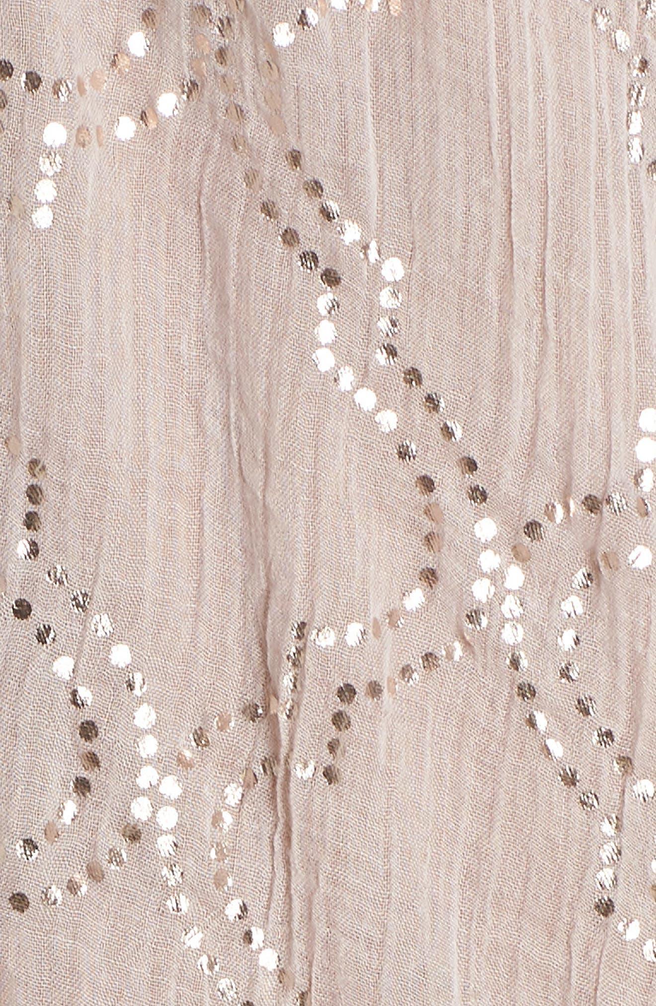 Cold Shoulder Cover-Up Dress,                             Alternate thumbnail 5, color,                             Sand