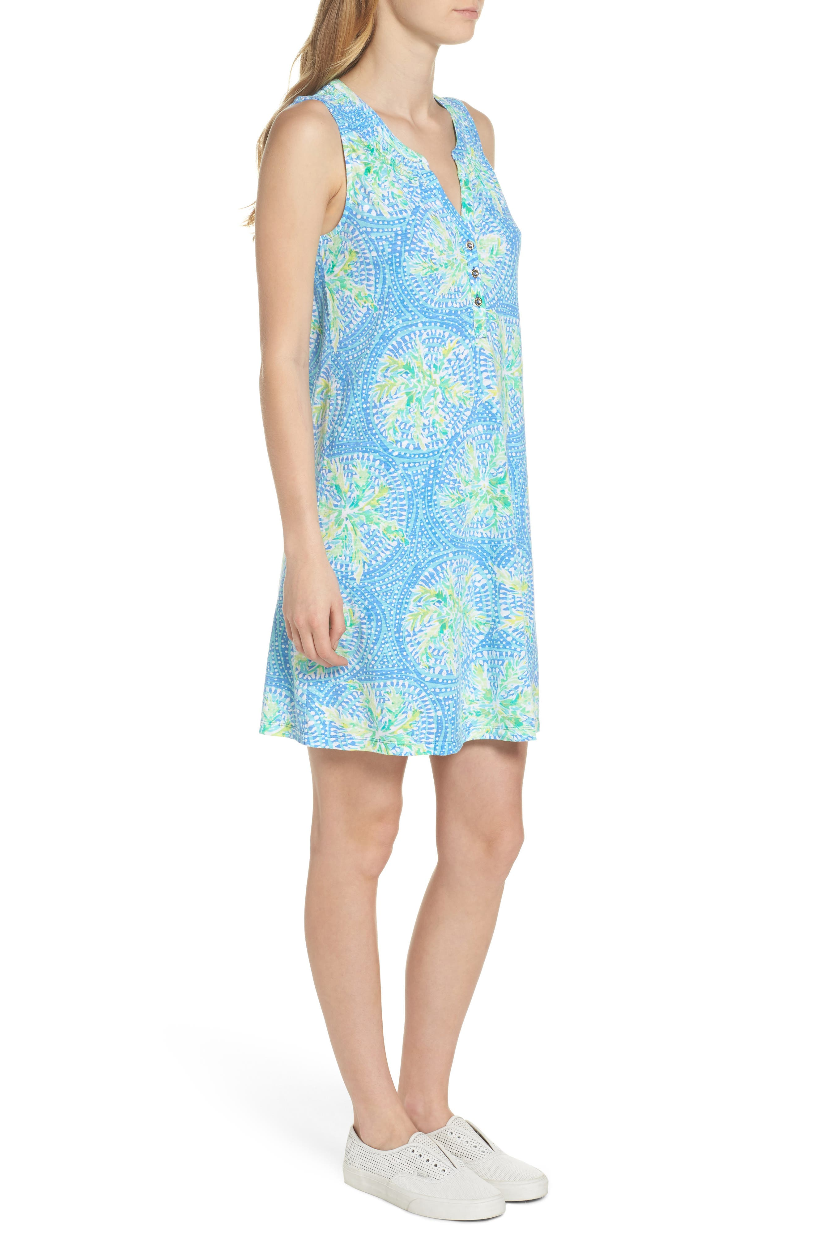 Essie Shift Dress,                             Alternate thumbnail 3, color,                             Bennett Blue Tropic Like Its H