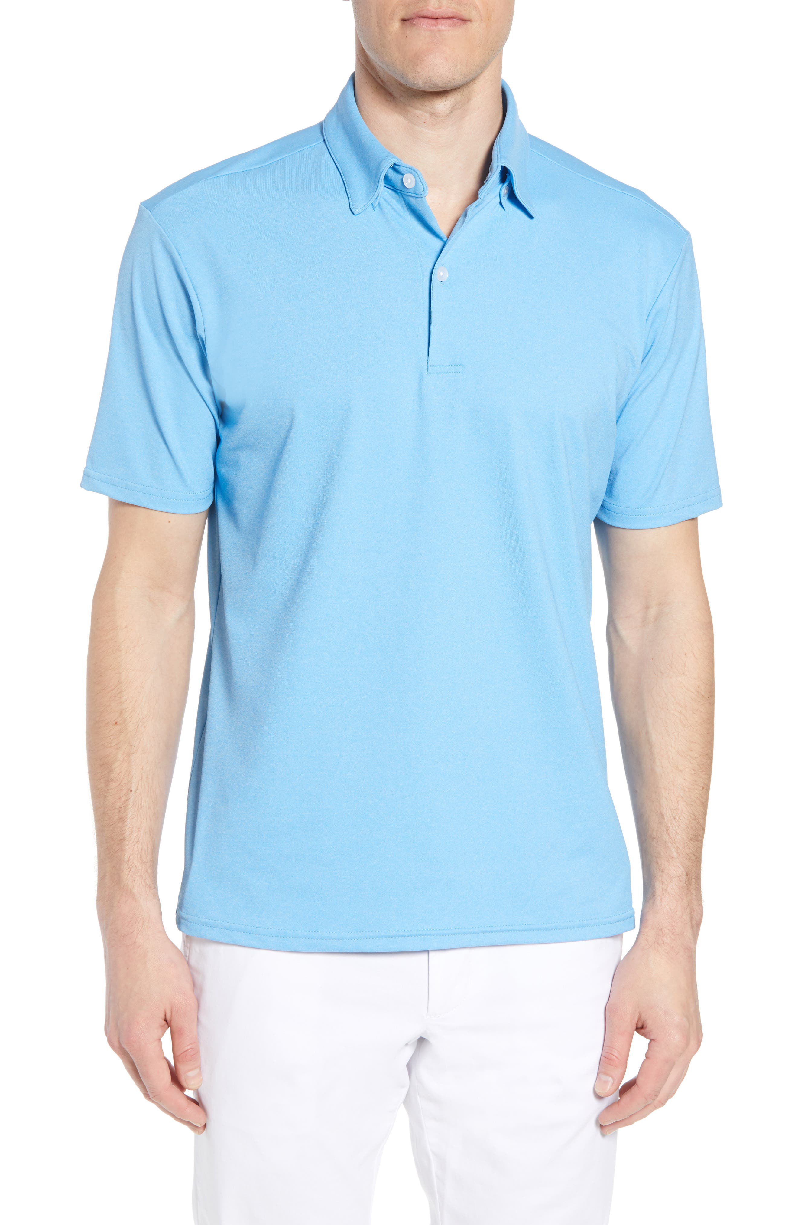 Slim Fit Active Polo,                         Main,                         color, Hackett Blue