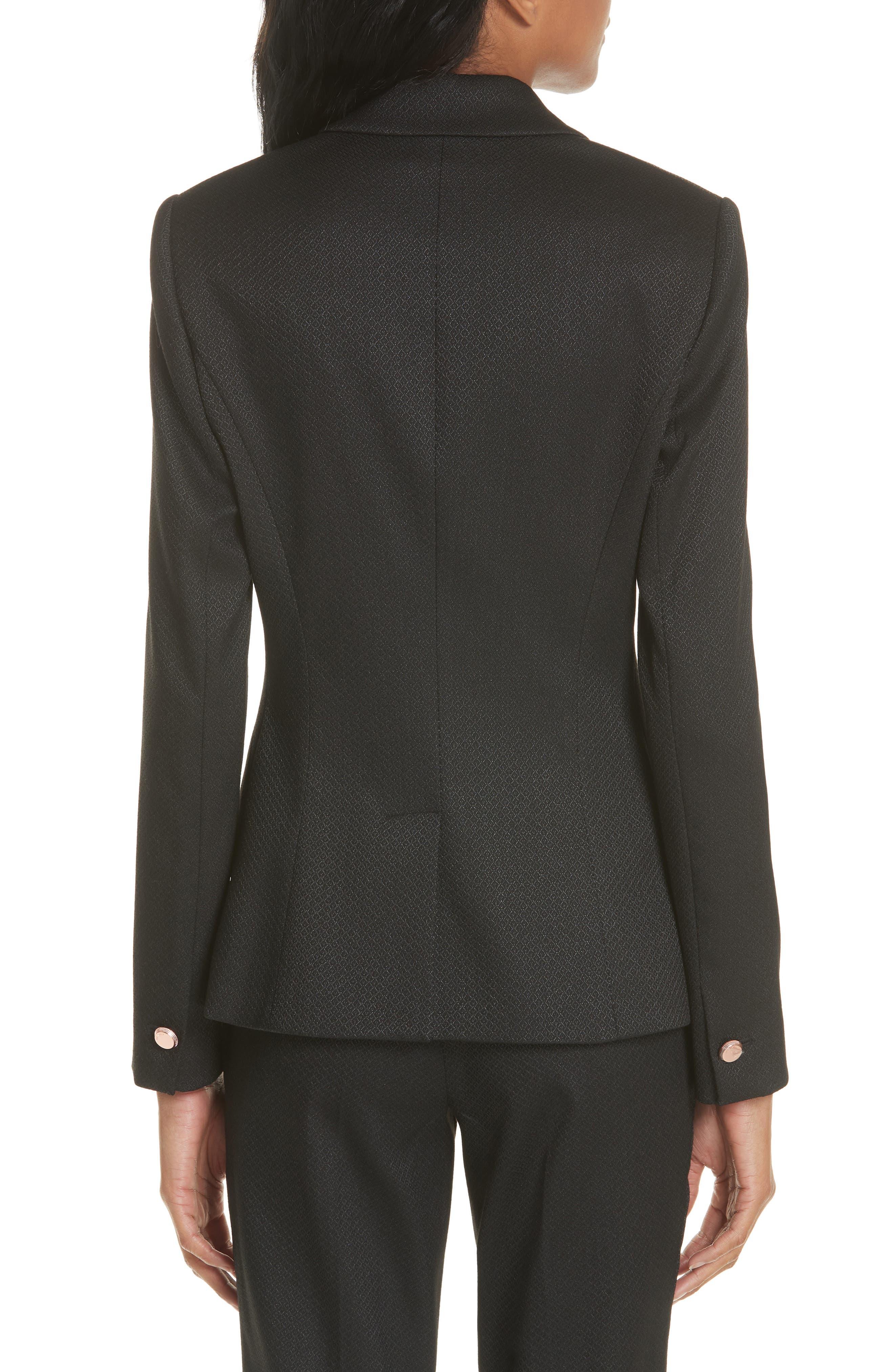 Textured Jacket,                             Alternate thumbnail 2, color,                             Black