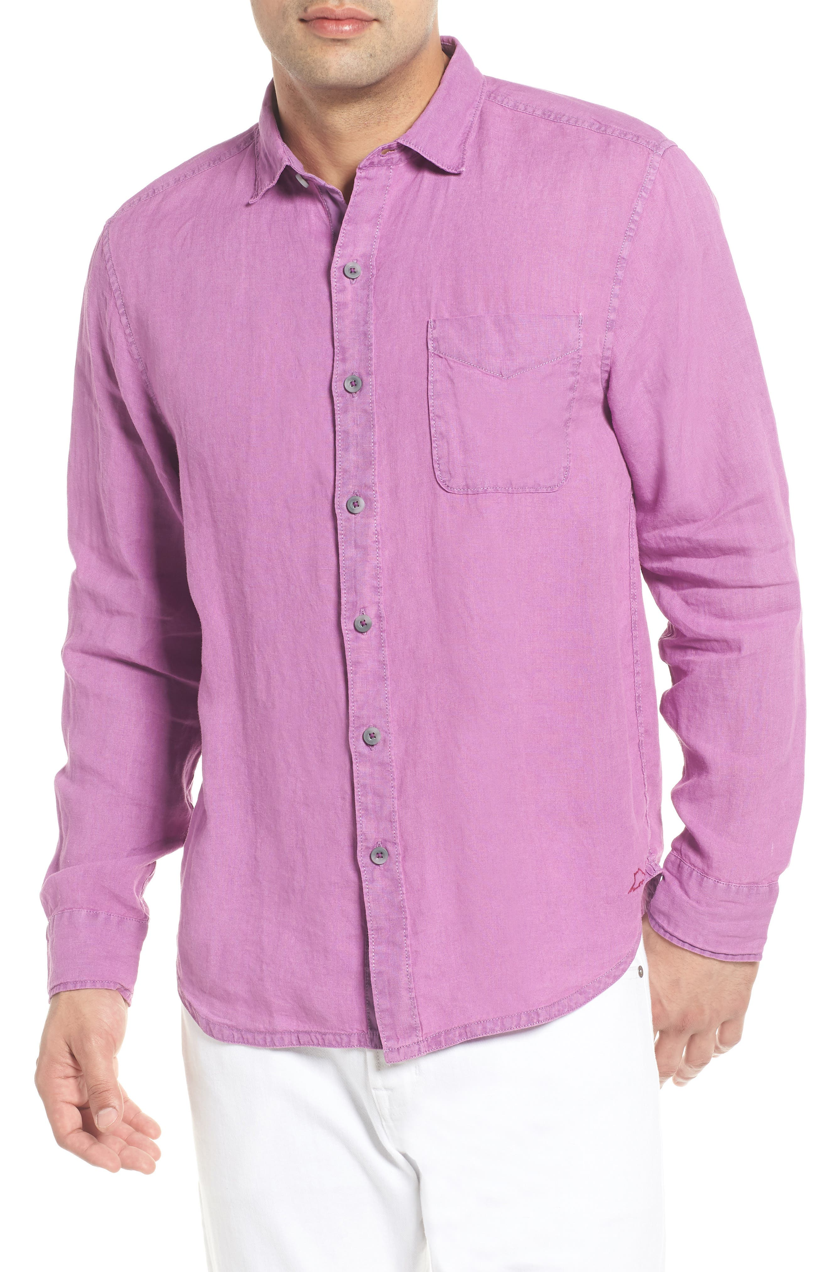 Alternate Image 1 Selected - Tommy Bahama Seaspray Breezer Standard Fit Linen Sport Shirt