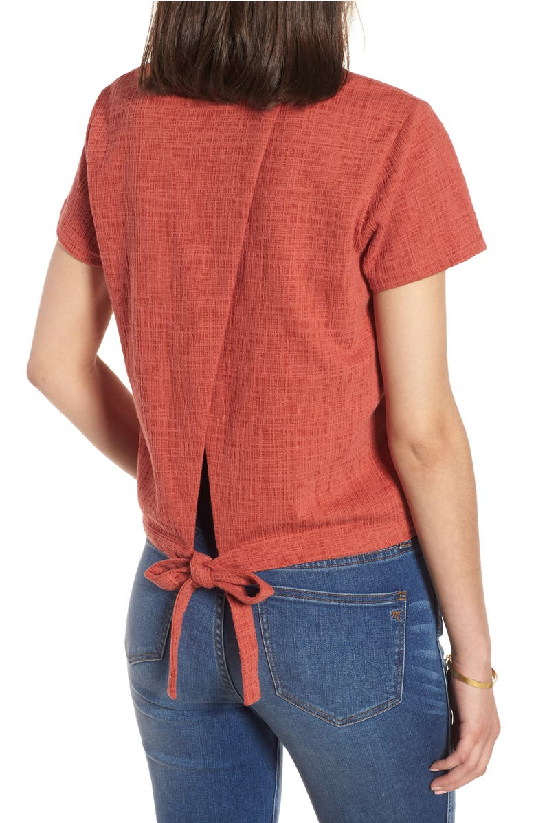Verse Tie Back Top,                         Alternate,                         color, Spiced Rose