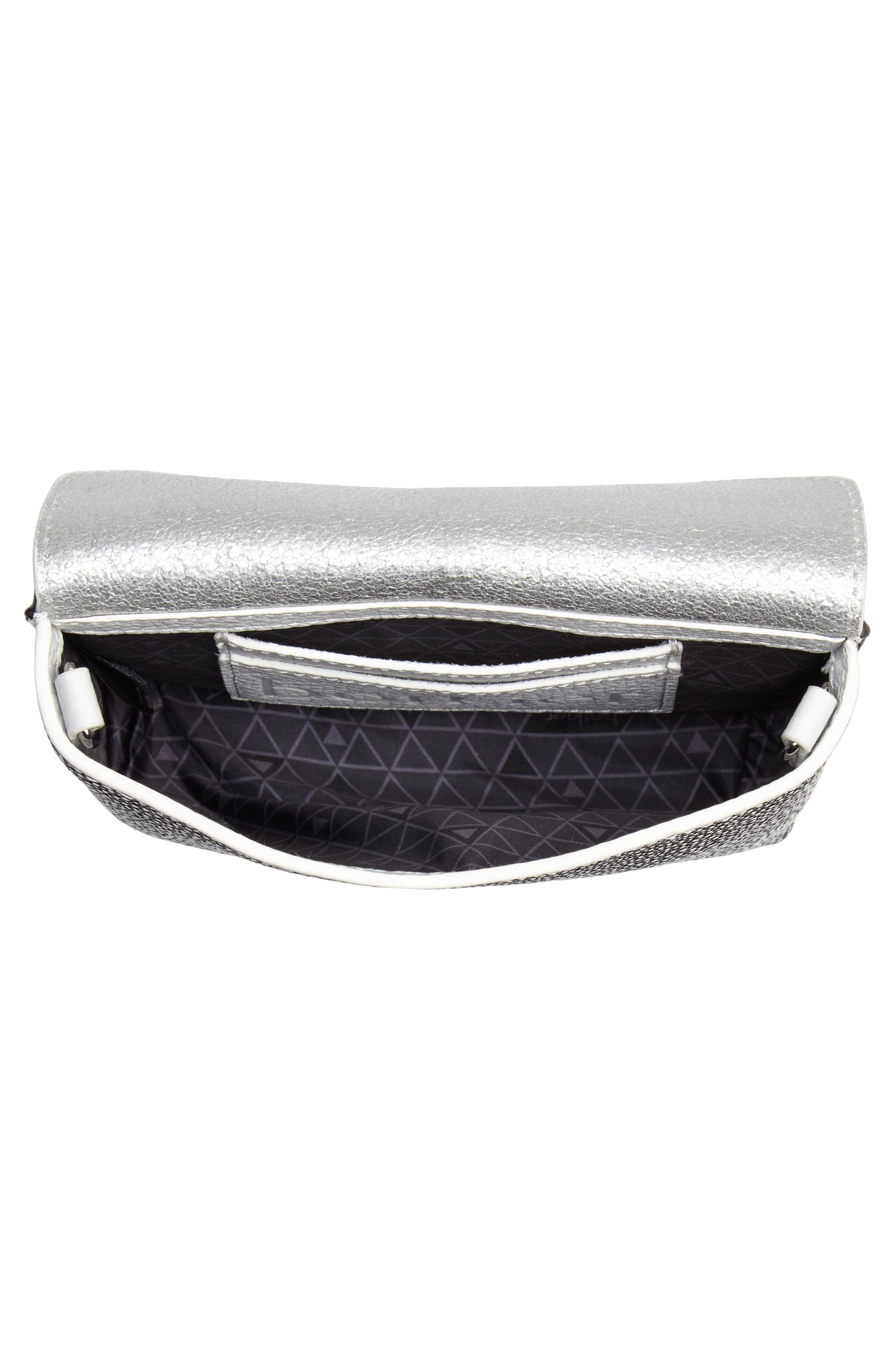 Vivi Calfskin Leather Convertible Belt Bag,                             Alternate thumbnail 6, color,                             Chalk Stingray