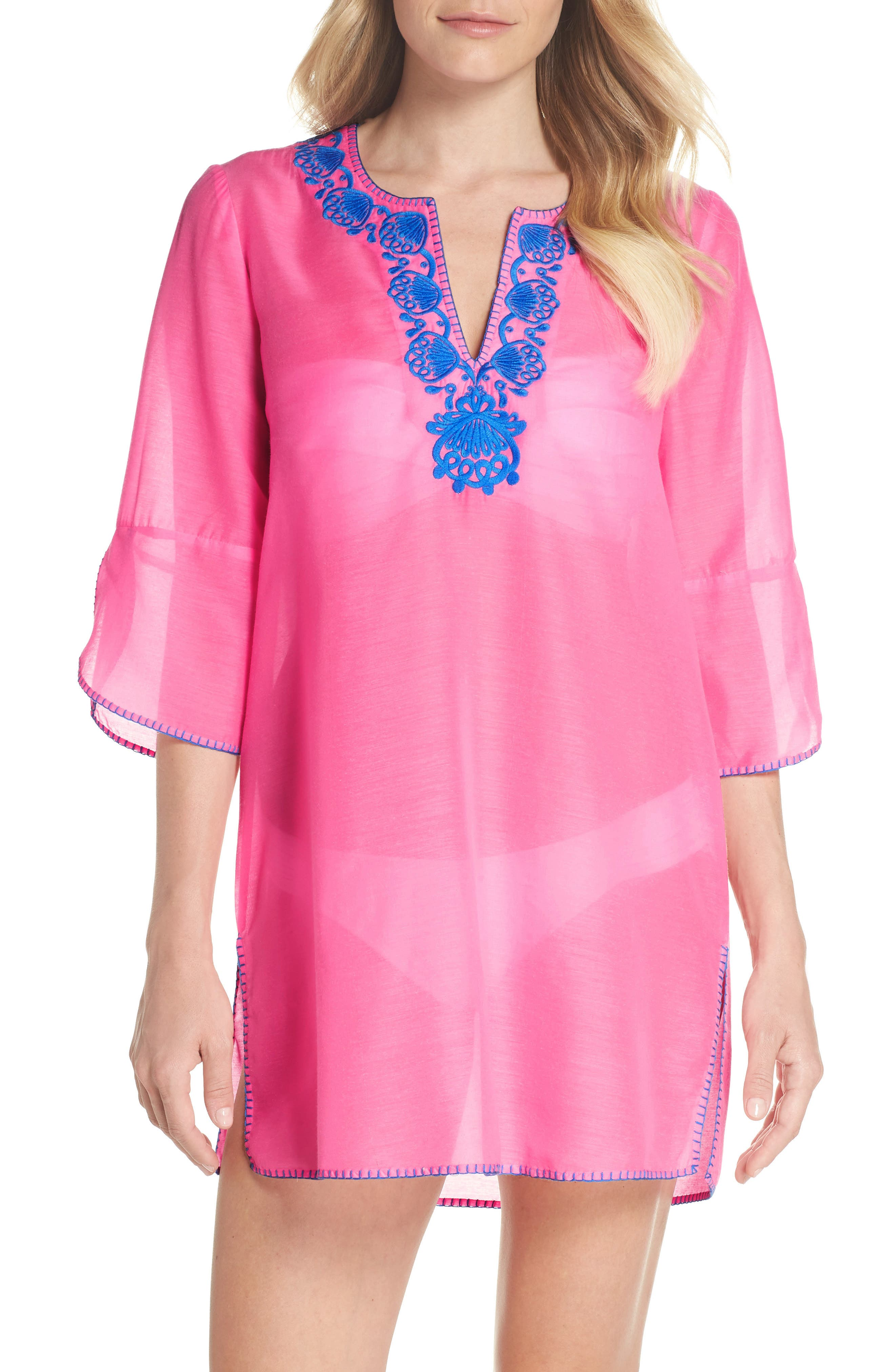 Piet Cover-Up,                         Main,                         color, Pink Sunset