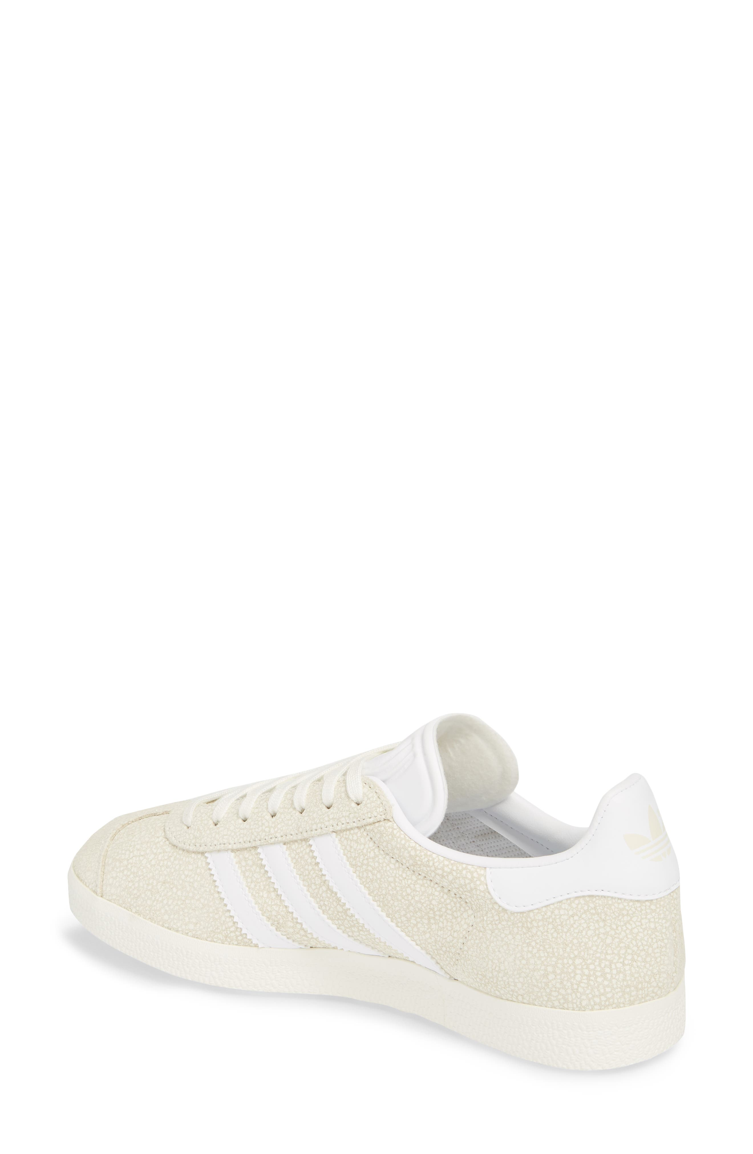 Gazelle Sneaker,                             Alternate thumbnail 2, color,                             Off White/ White/ Off White