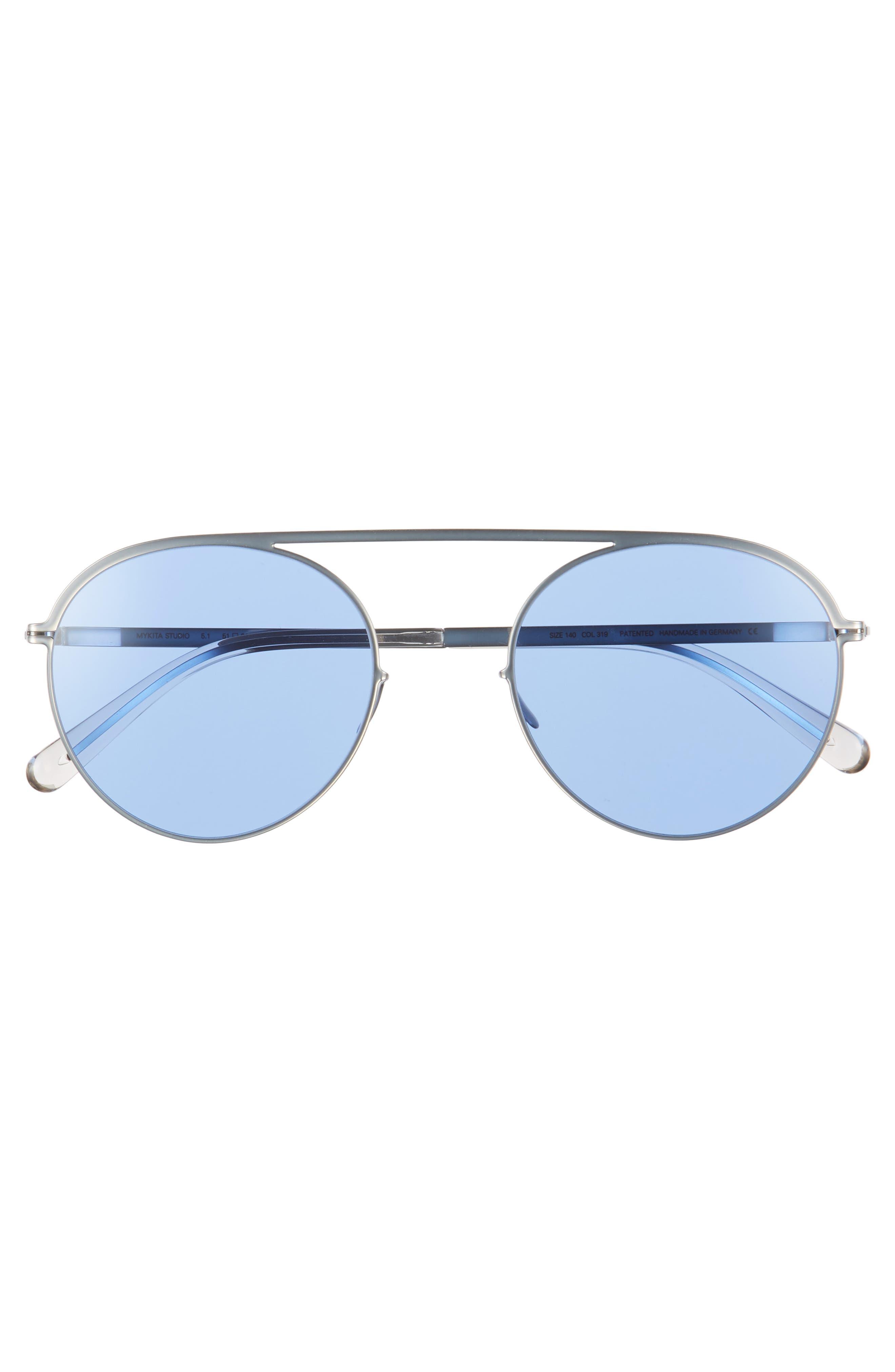Studio 5.1 51mm Sunglasses,                             Alternate thumbnail 2, color,                             Silver