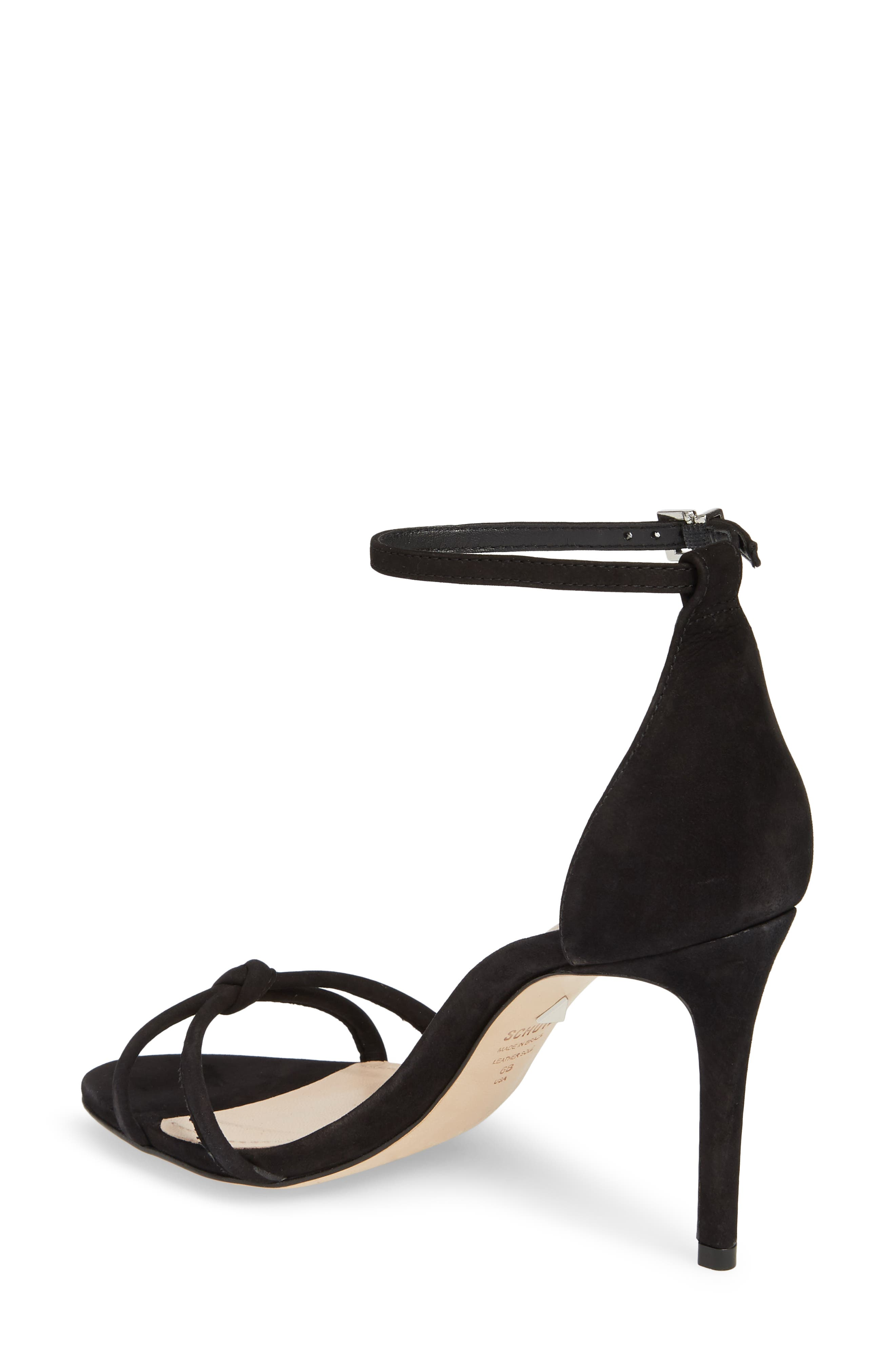 Rhana Ankle Strap Sandal,                             Alternate thumbnail 2, color,                             Black Leather