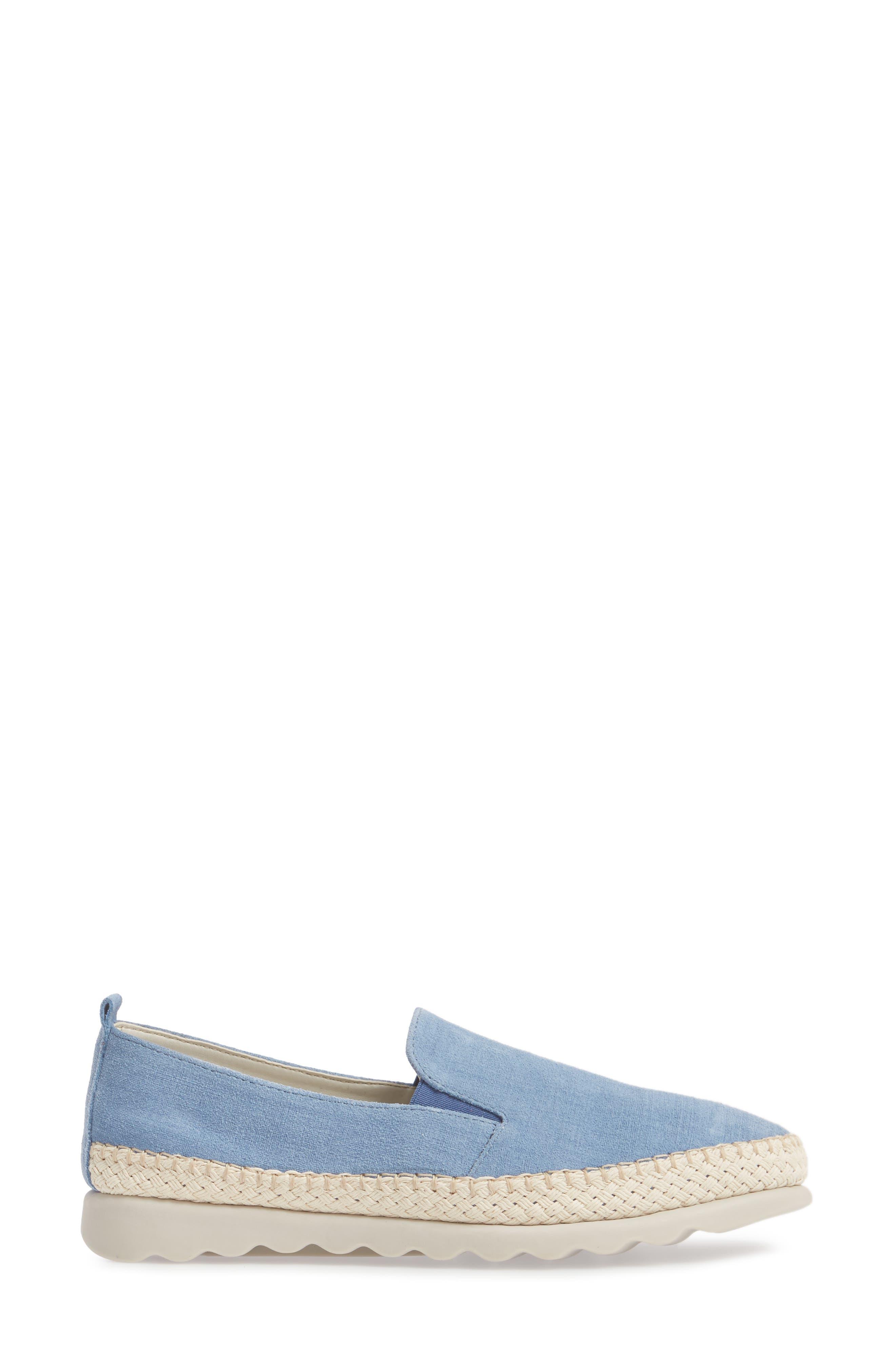 Chappie Slip-On Sneaker,                             Alternate thumbnail 3, color,                             Denim Printed Suede