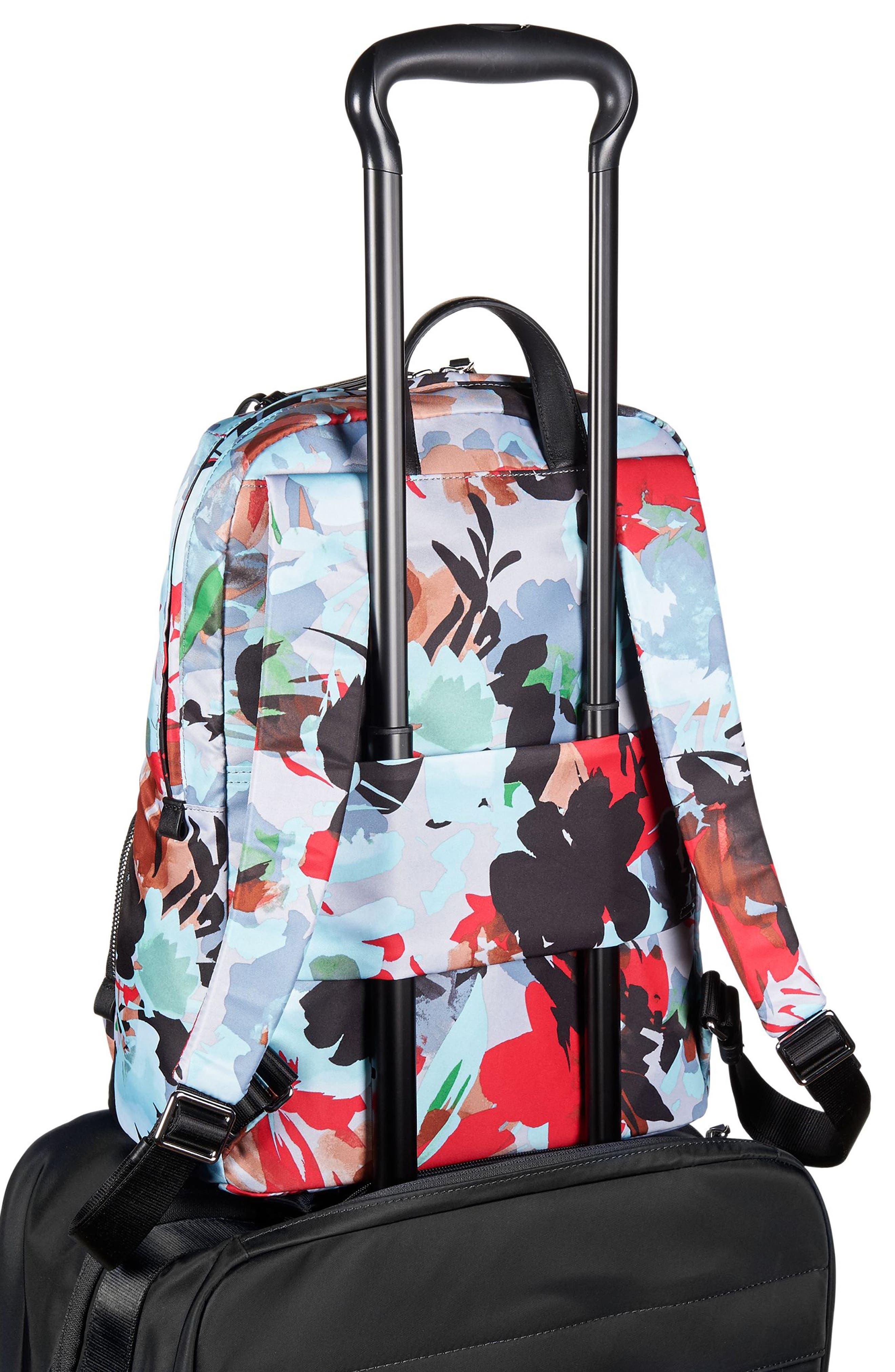 Voyageur Halle Nylon Backpack,                             Alternate thumbnail 6, color,                             Pacific Floral