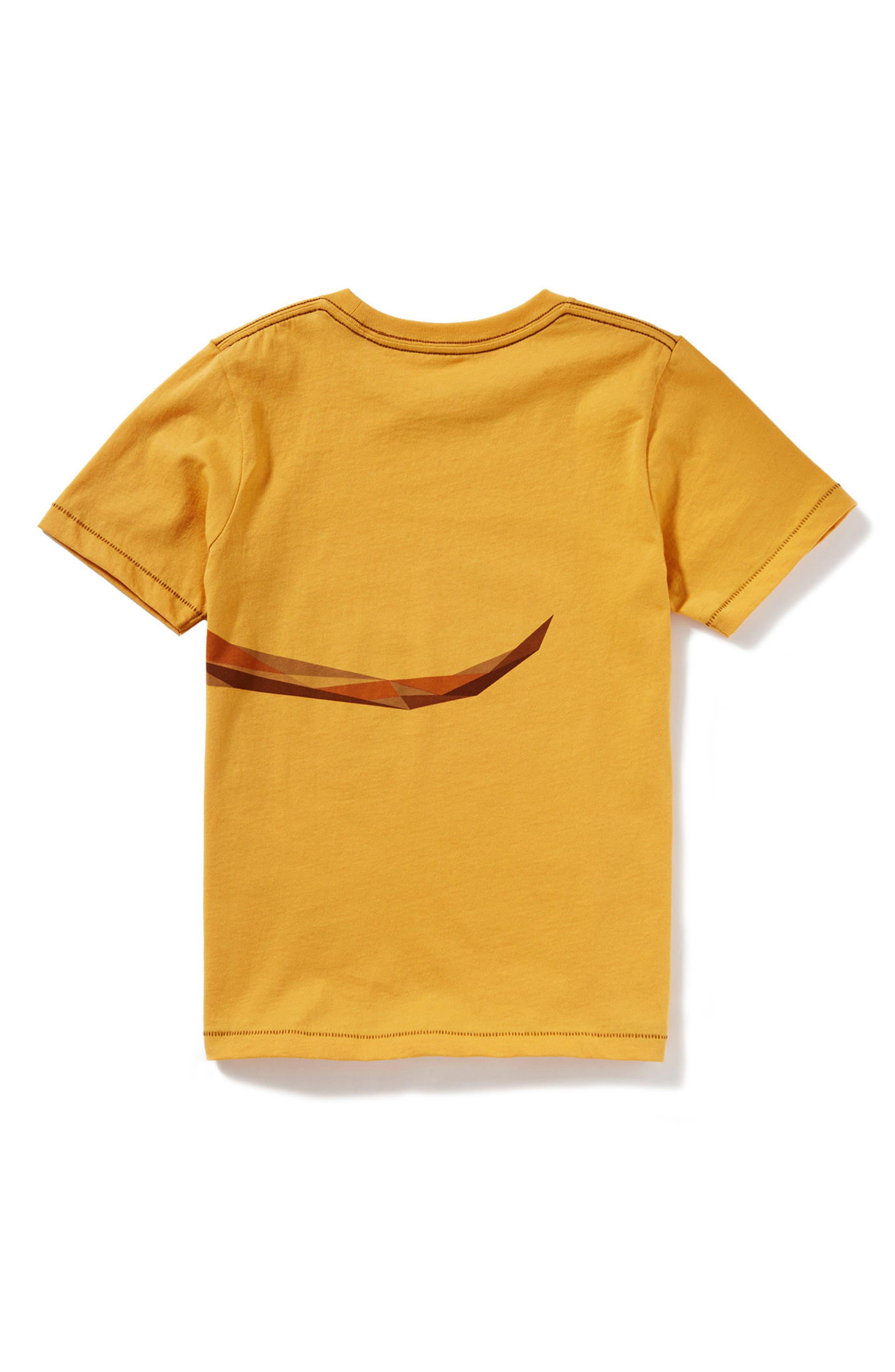 Kangaroo Graphic T-Shirt,                             Alternate thumbnail 2, color,                             Yellow