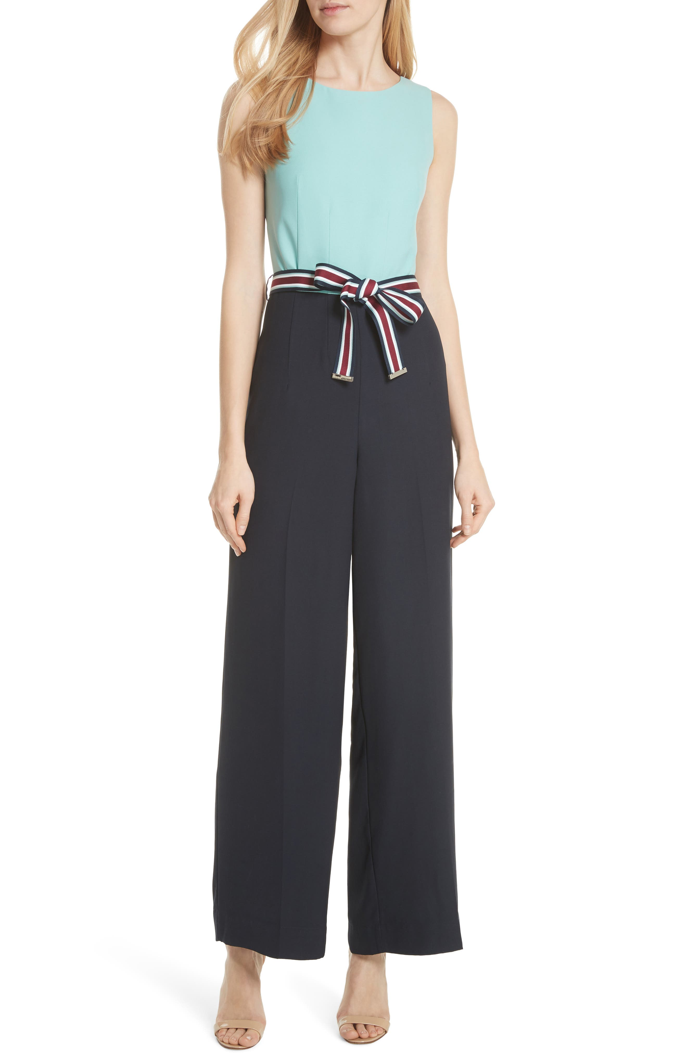 Main Image - Ted Baker London Colour by Numbers Colorblock Jumpsuit