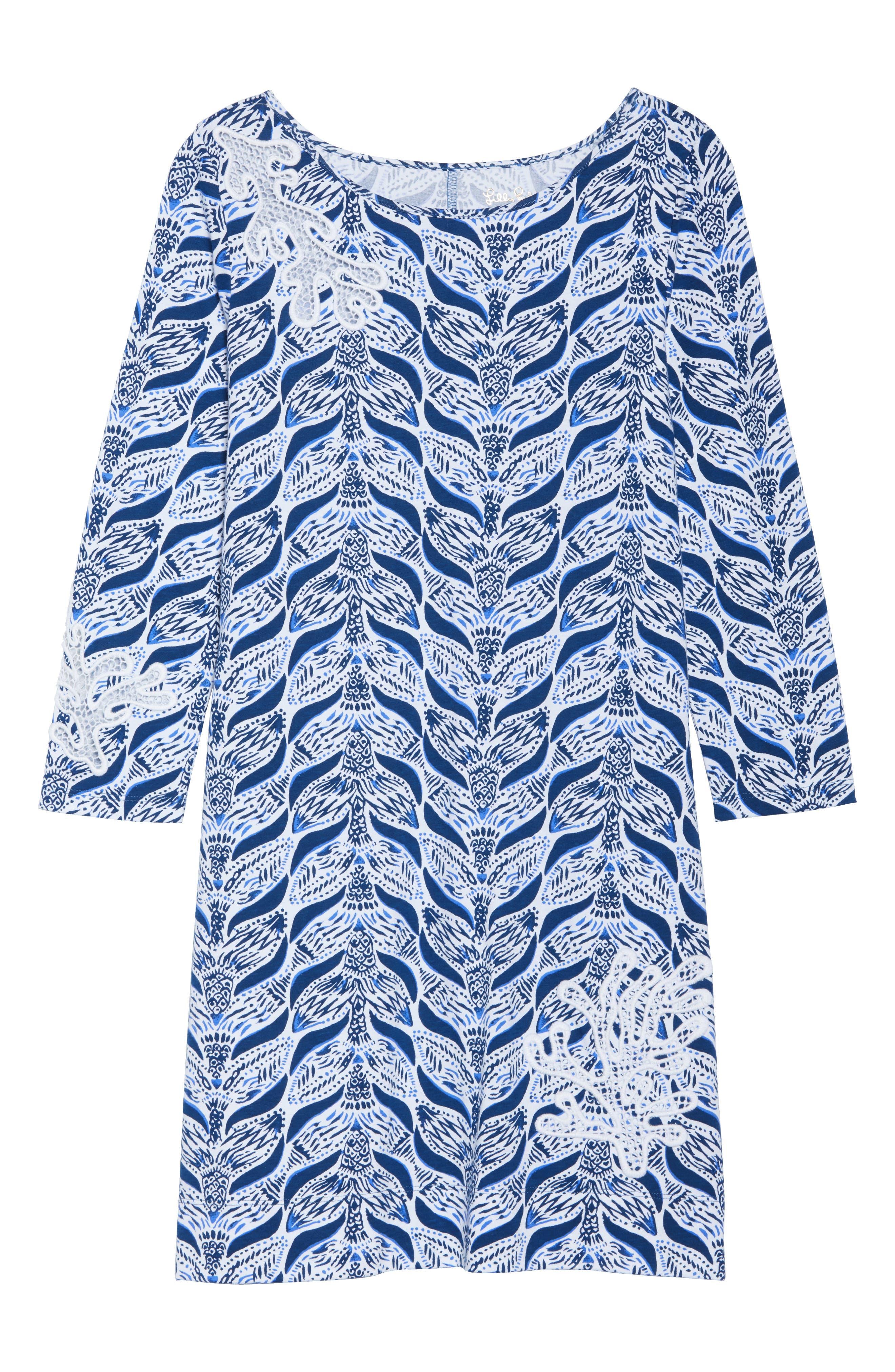 Marlowe T-Shirt Dress,                             Alternate thumbnail 6, color,                             Resort White A Mermaids Tail