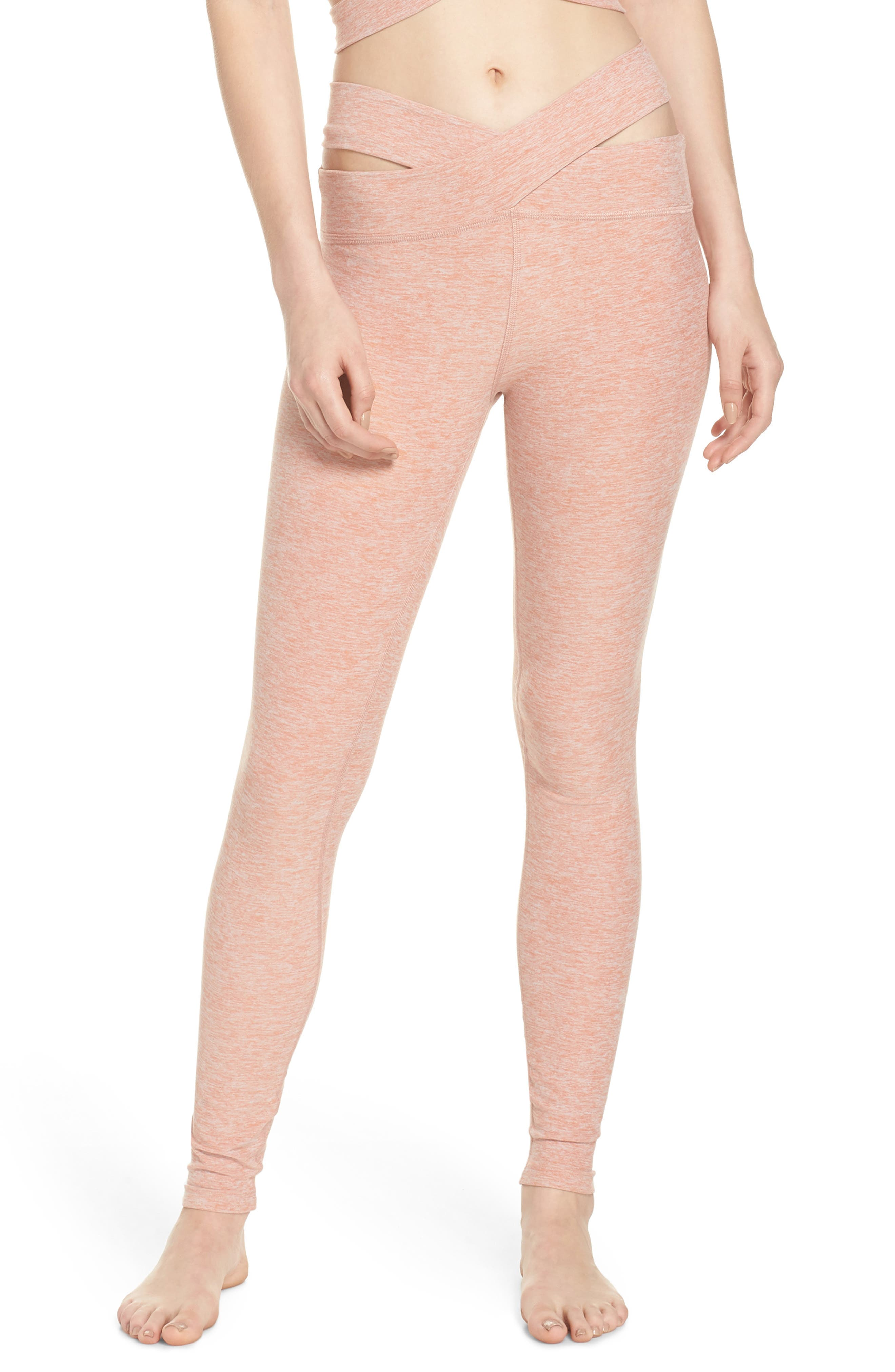 East Bound Space Dye Leggings,                         Main,                         color, Rainwash- Pink Shell