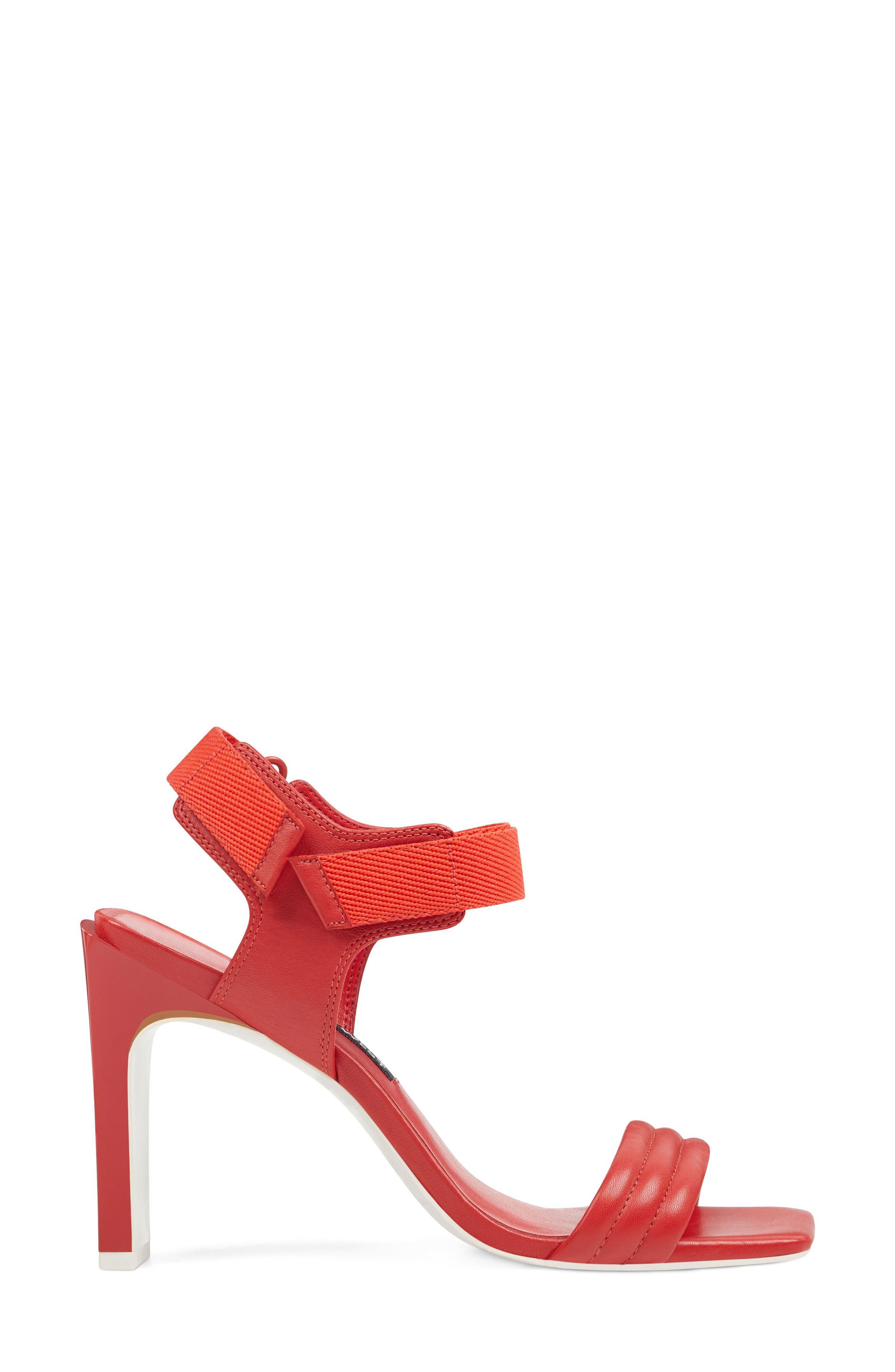 Zebree Sandal,                             Alternate thumbnail 2, color,                             Red Leather