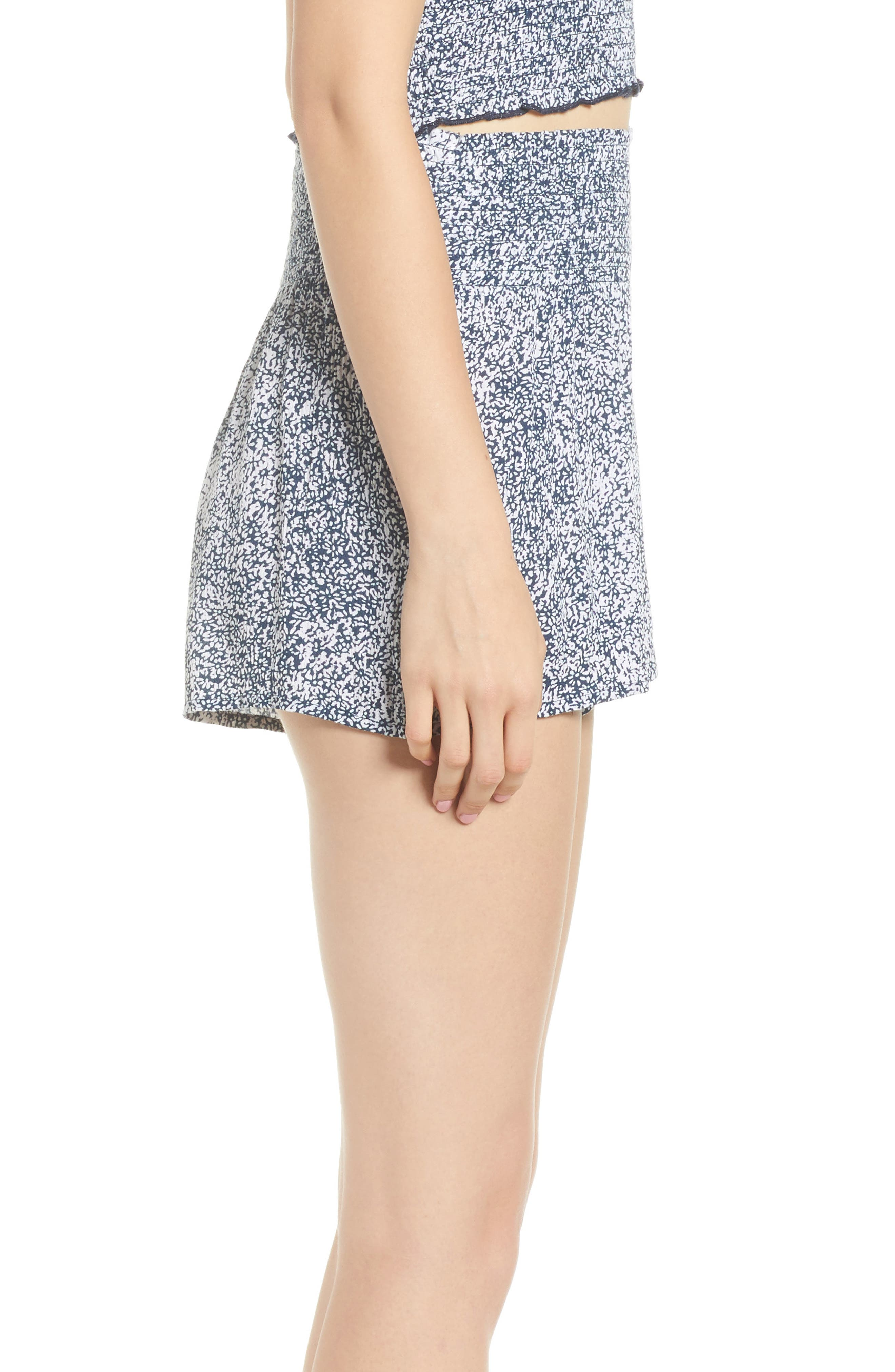 She's So Daisy Smock Waist Shorts,                             Alternate thumbnail 4, color,                             Navy