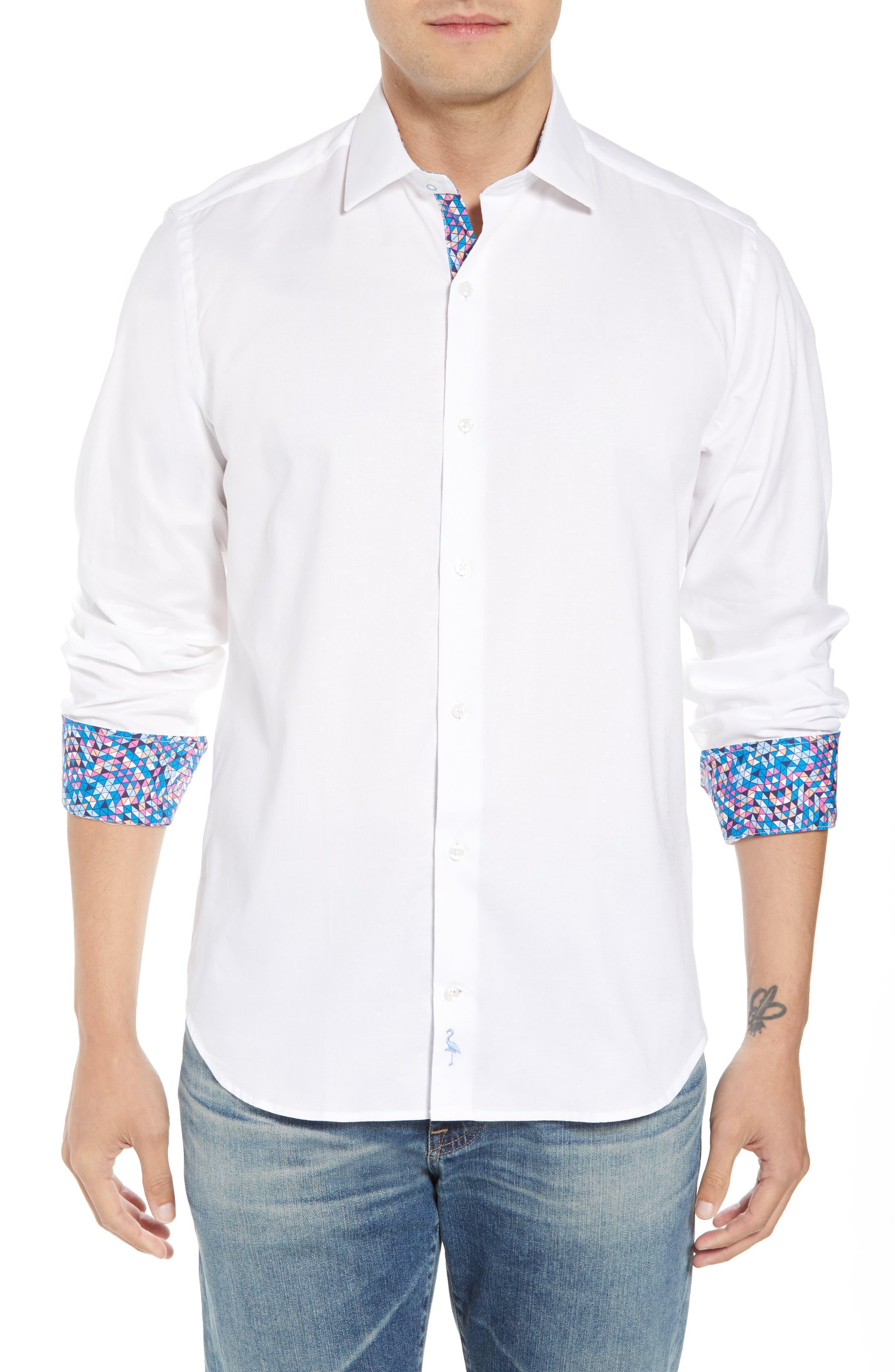 Baxley Regular Fit Sport Shirt,                         Main,                         color, White