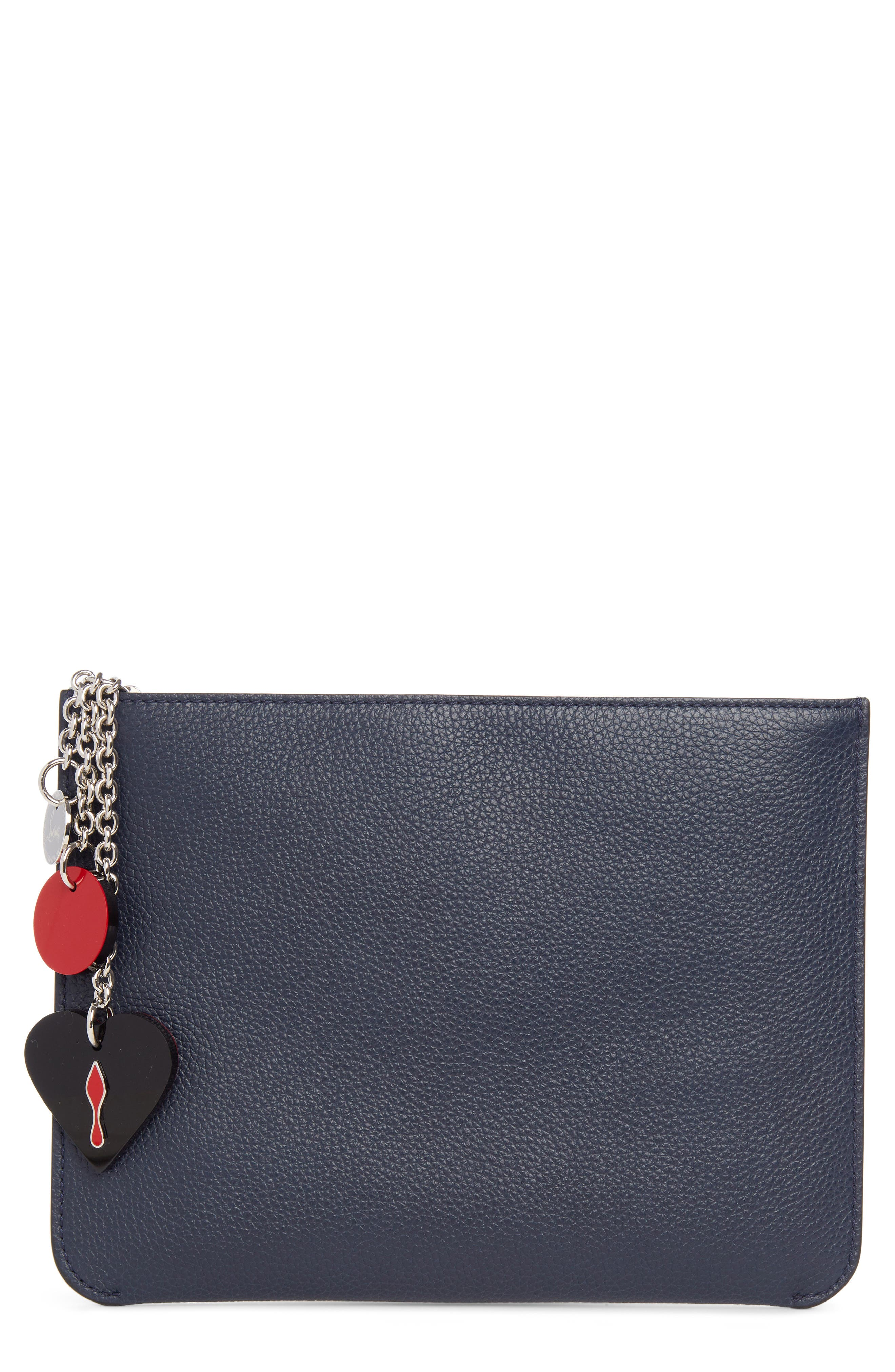 Christian Louboutin Loubicute Leather Pouch with Charms