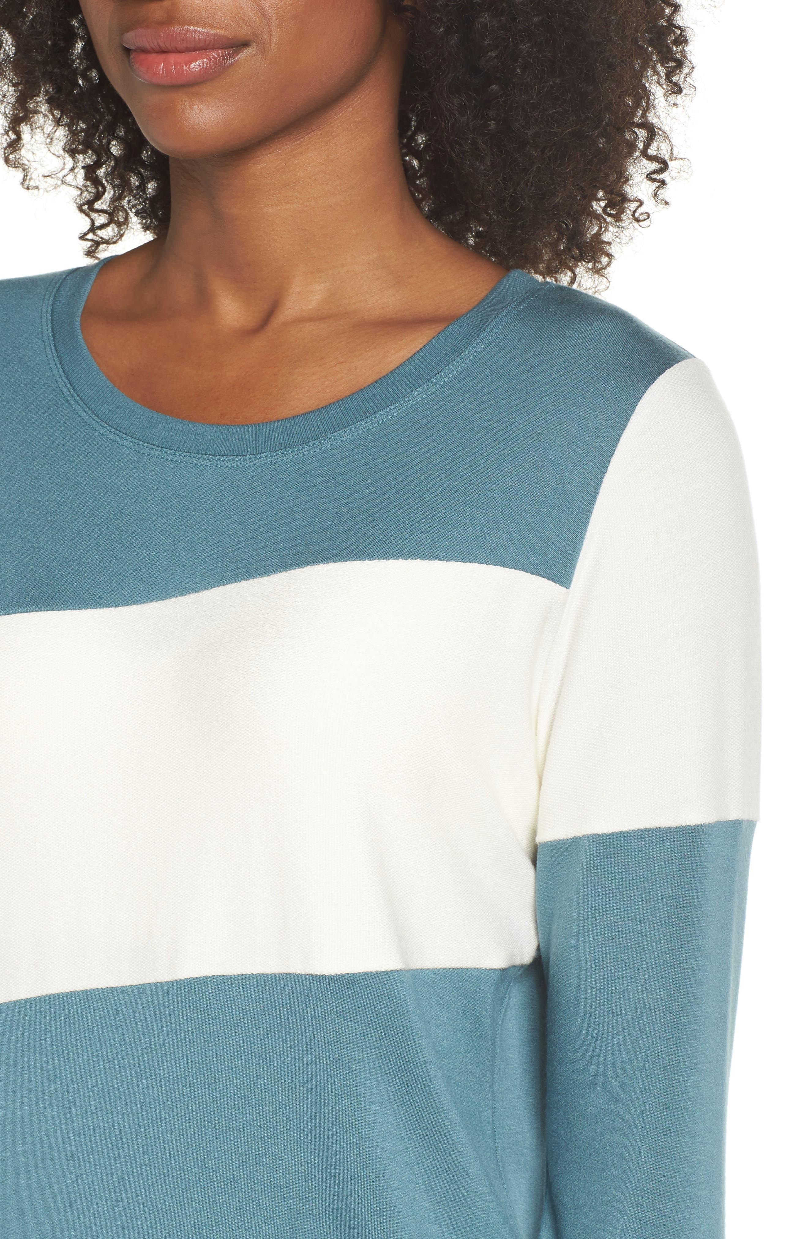 Ramp Sweatshirt,                             Alternate thumbnail 4, color,                             Blue Surf/ Off White