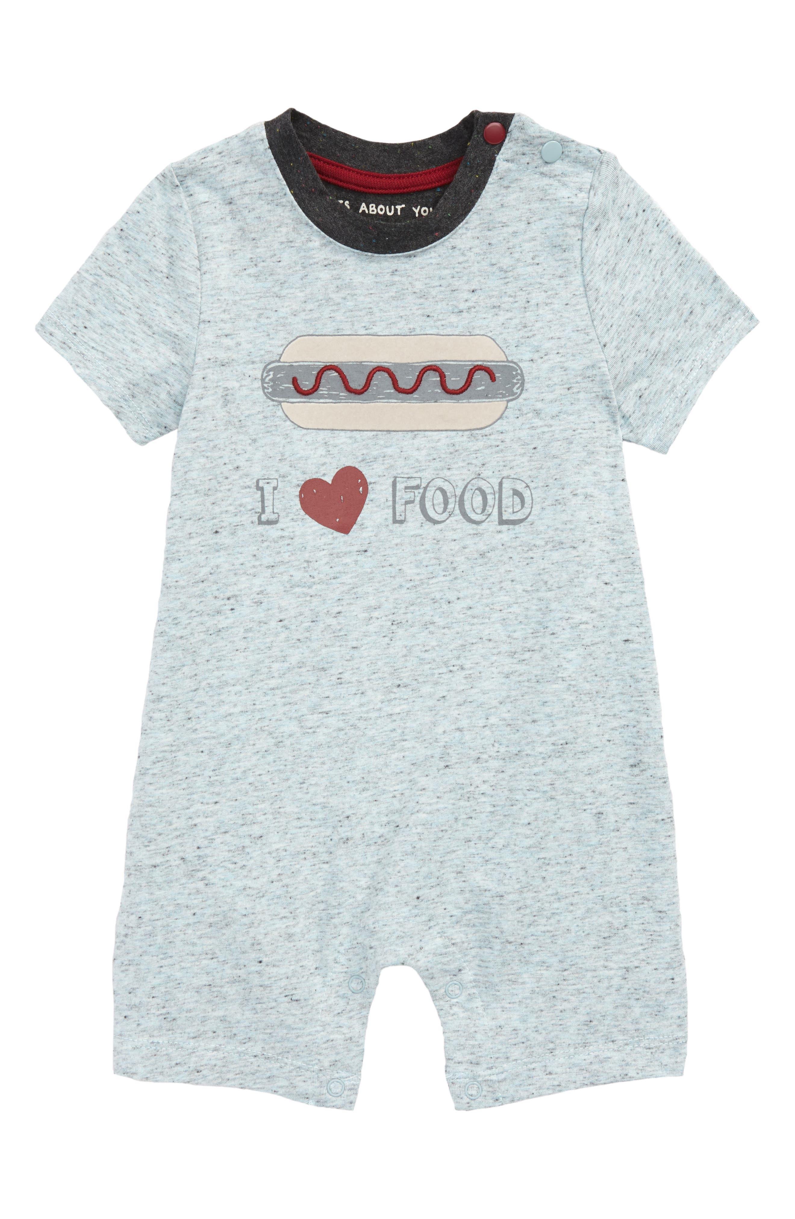 Alternate Image 1 Selected - Robeez® I Love Food Romper (Baby)