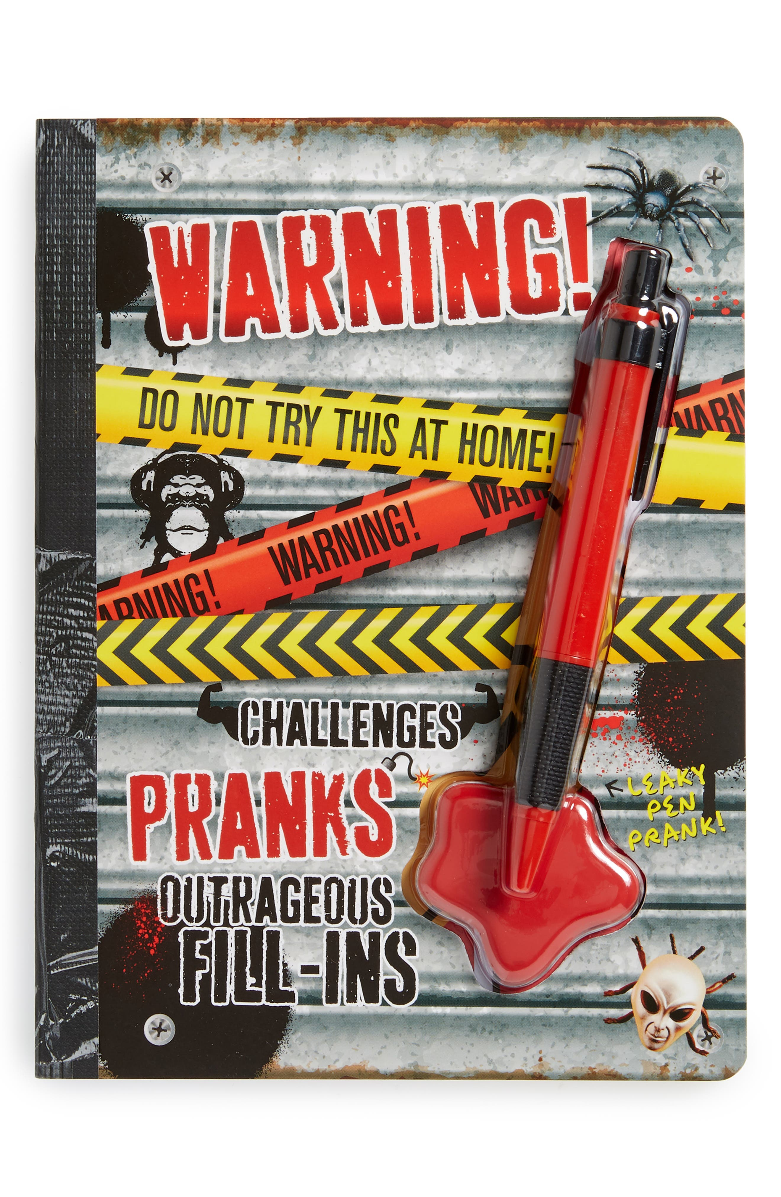 """""""Warning! Do Not Try This at Home!"""" Activity Book & Pen Set,                         Main,                         color, Multi"""