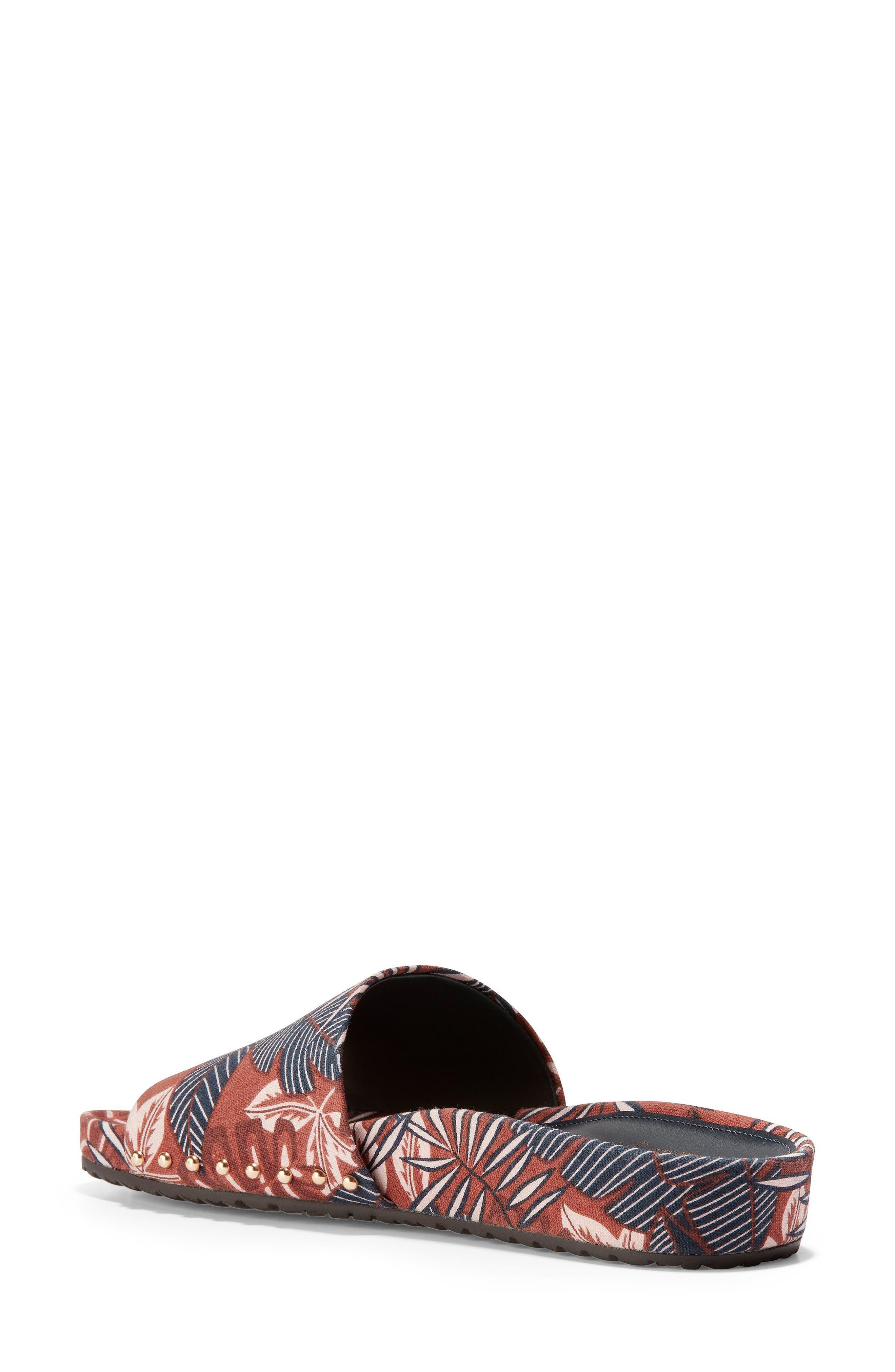 Pinch Montauk Print Slide Sandal,                             Alternate thumbnail 2, color,                             Tropical Palm Print Fabric