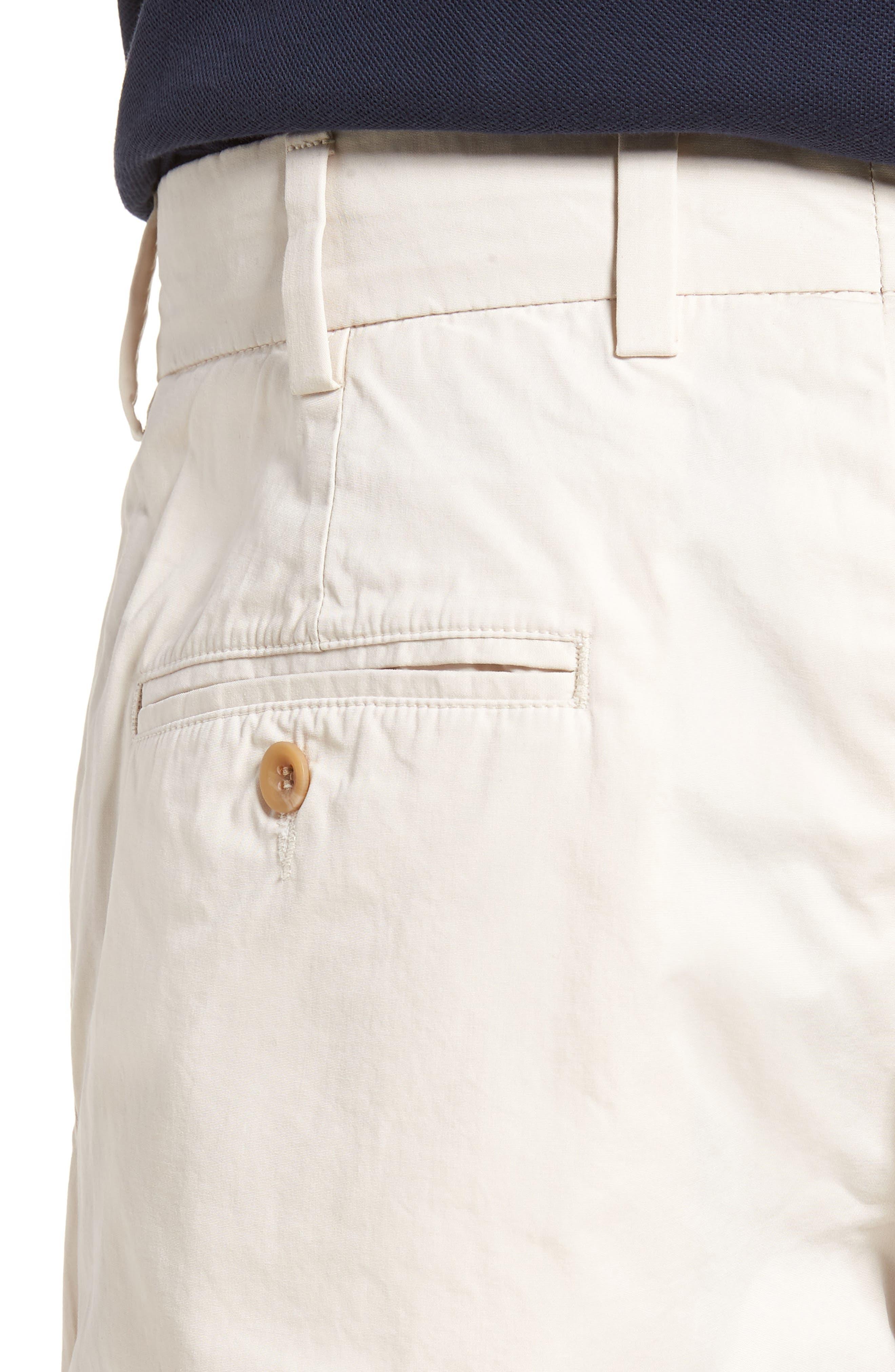 M3 Straight Fit Flat Front Tropical Poplin Pants,                             Alternate thumbnail 4, color,                             Sand