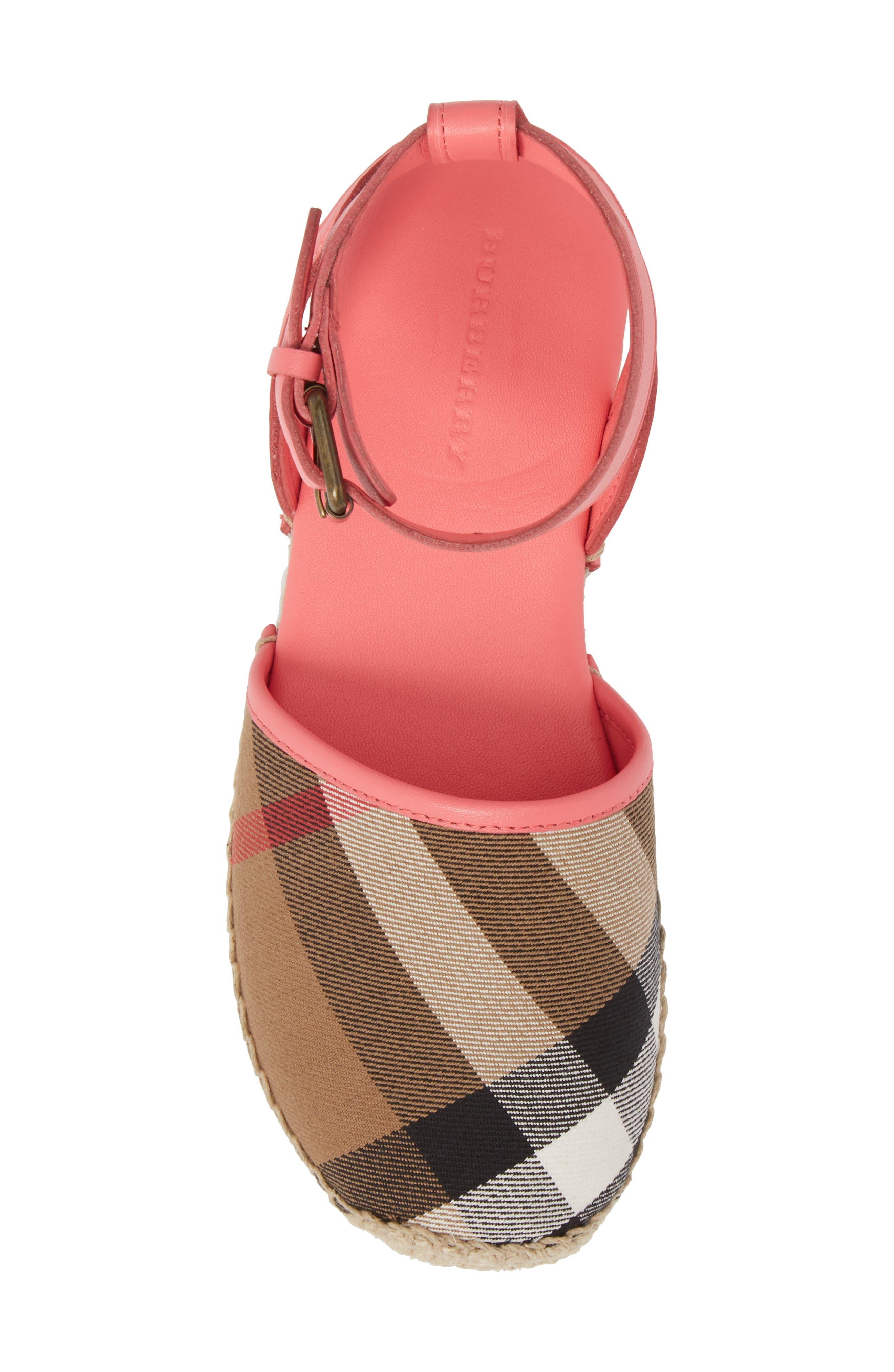 New Perth Espadrille Sandal,                             Alternate thumbnail 5, color,                             Bright Peony Rose
