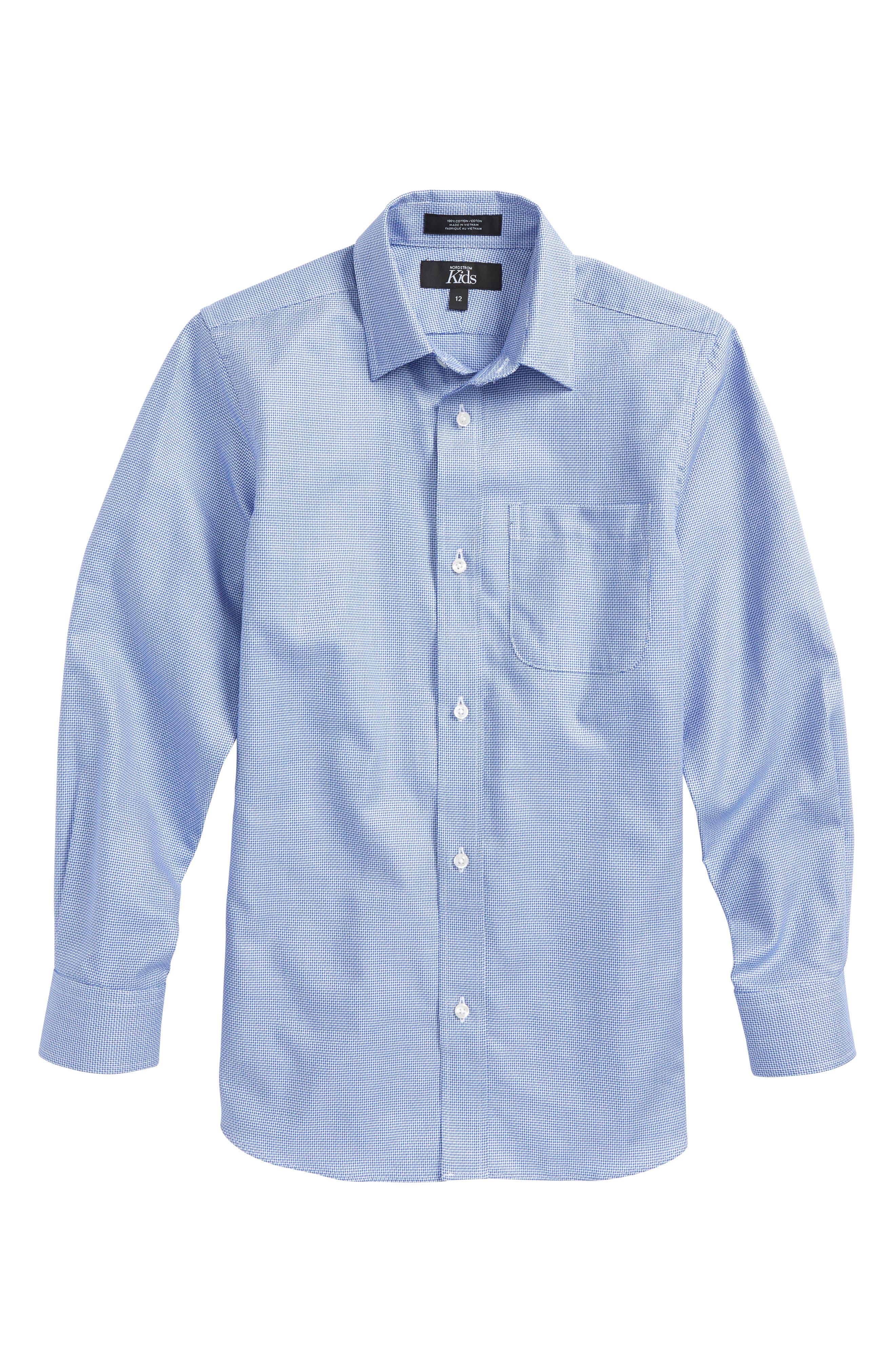 Sodalite Dobby Sport Shirt,                         Main,                         color, Blue Sodalite Dobby