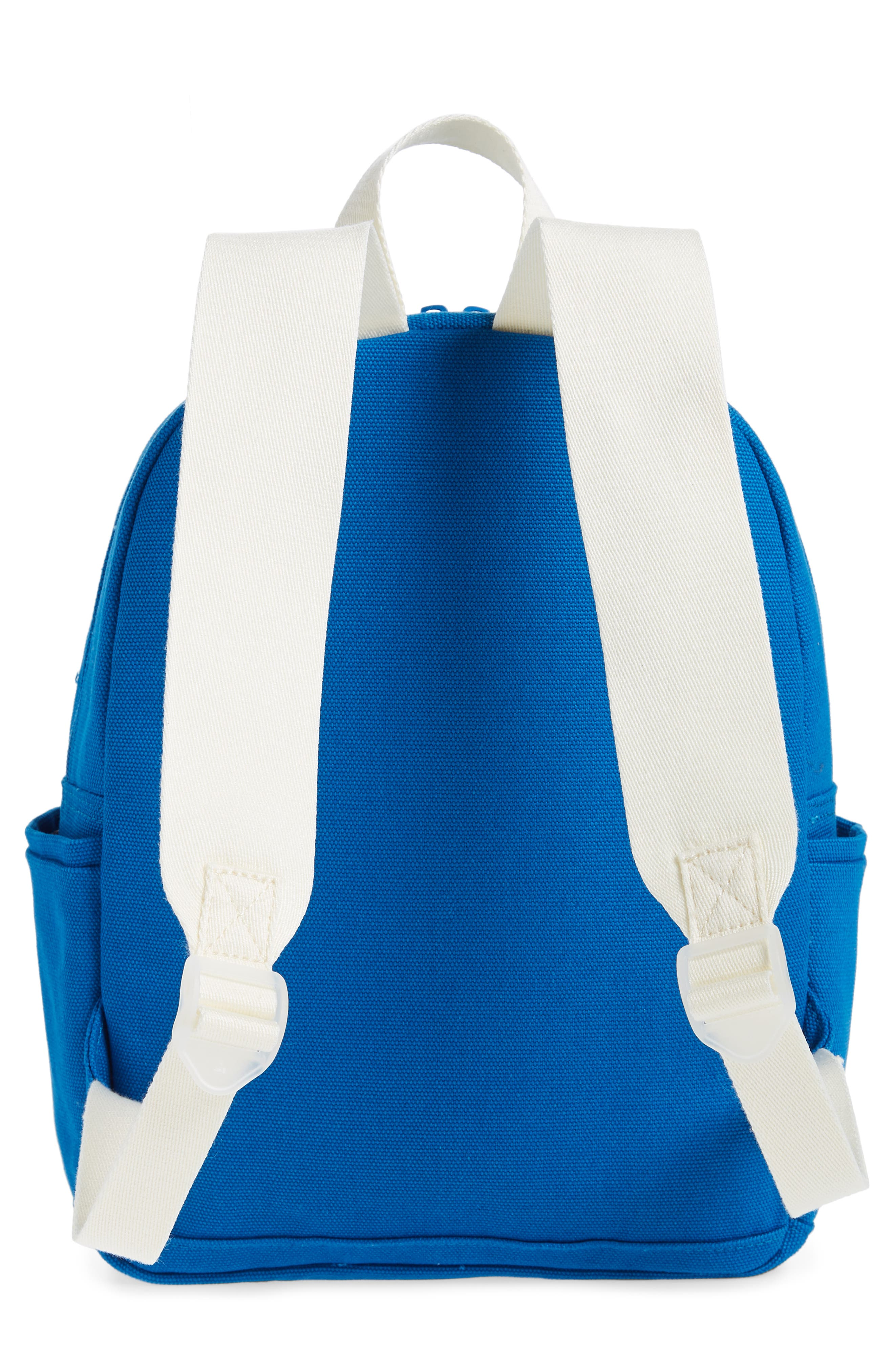 Kensington Mini Kane Canvas Backpack,                             Alternate thumbnail 4, color,                             Pool