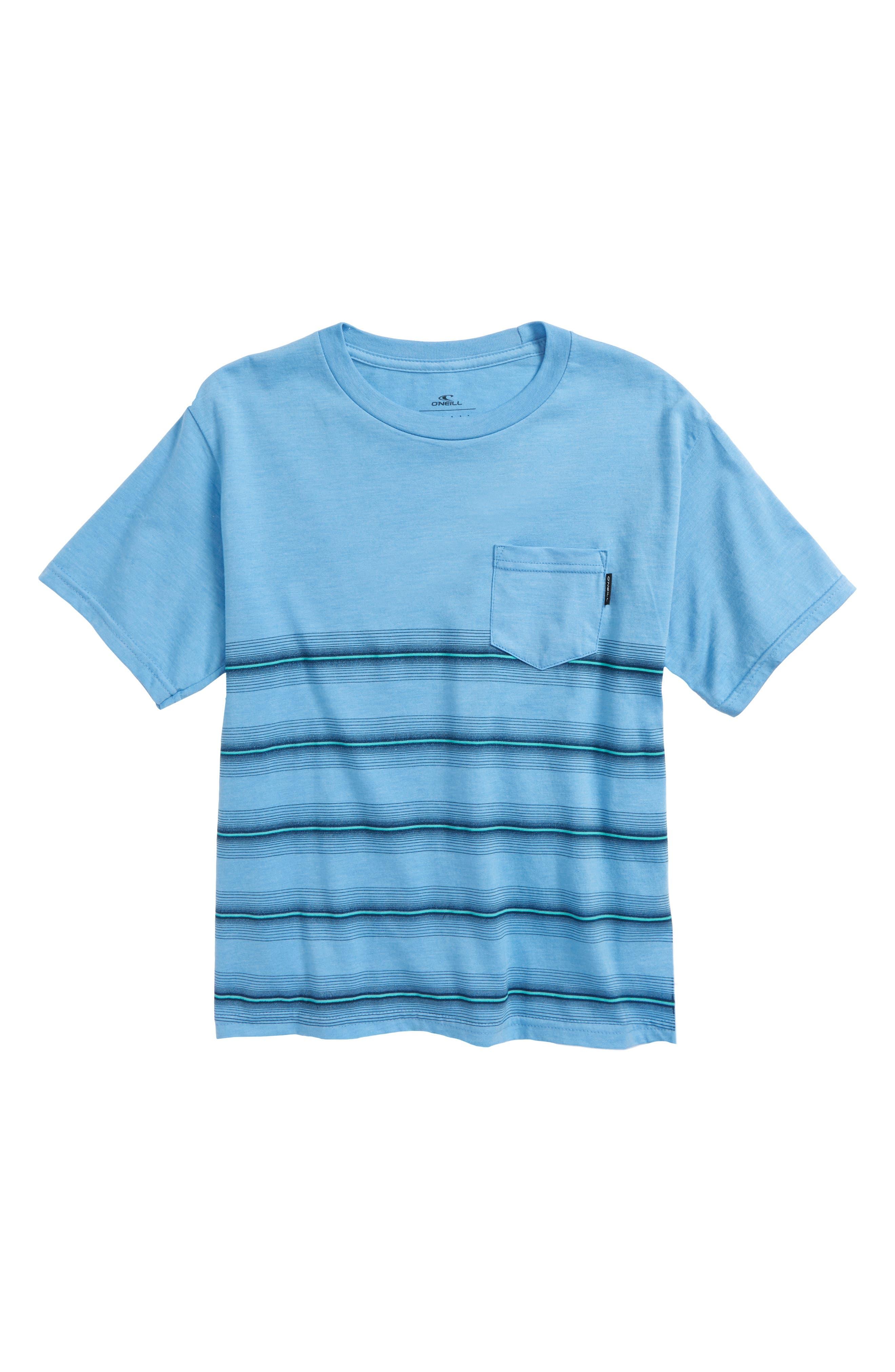 Pho Stripe T-Shirt,                         Main,                         color, Light Blue Heather