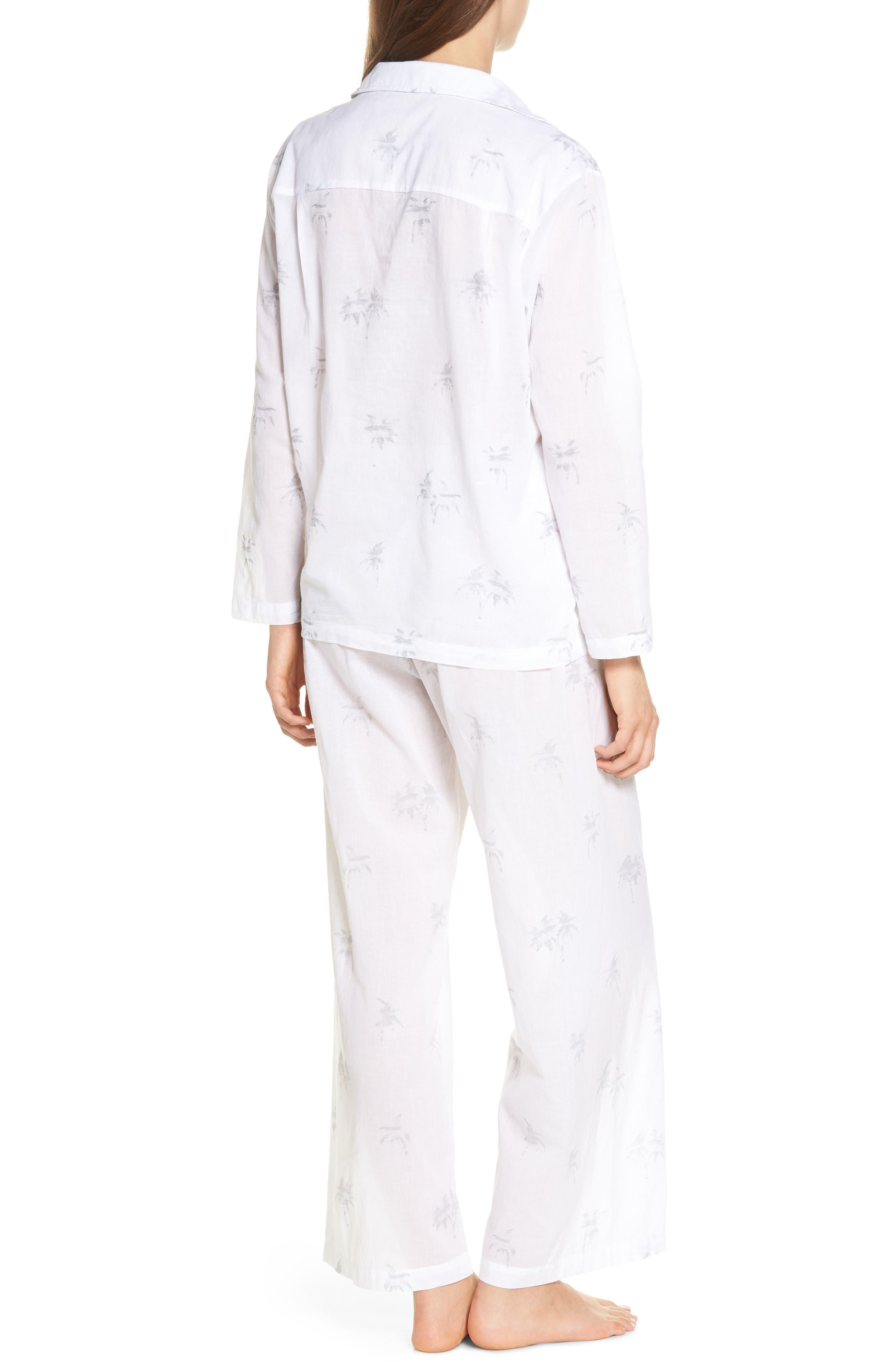 Palms Pajamas,                             Alternate thumbnail 2, color,                             Grey