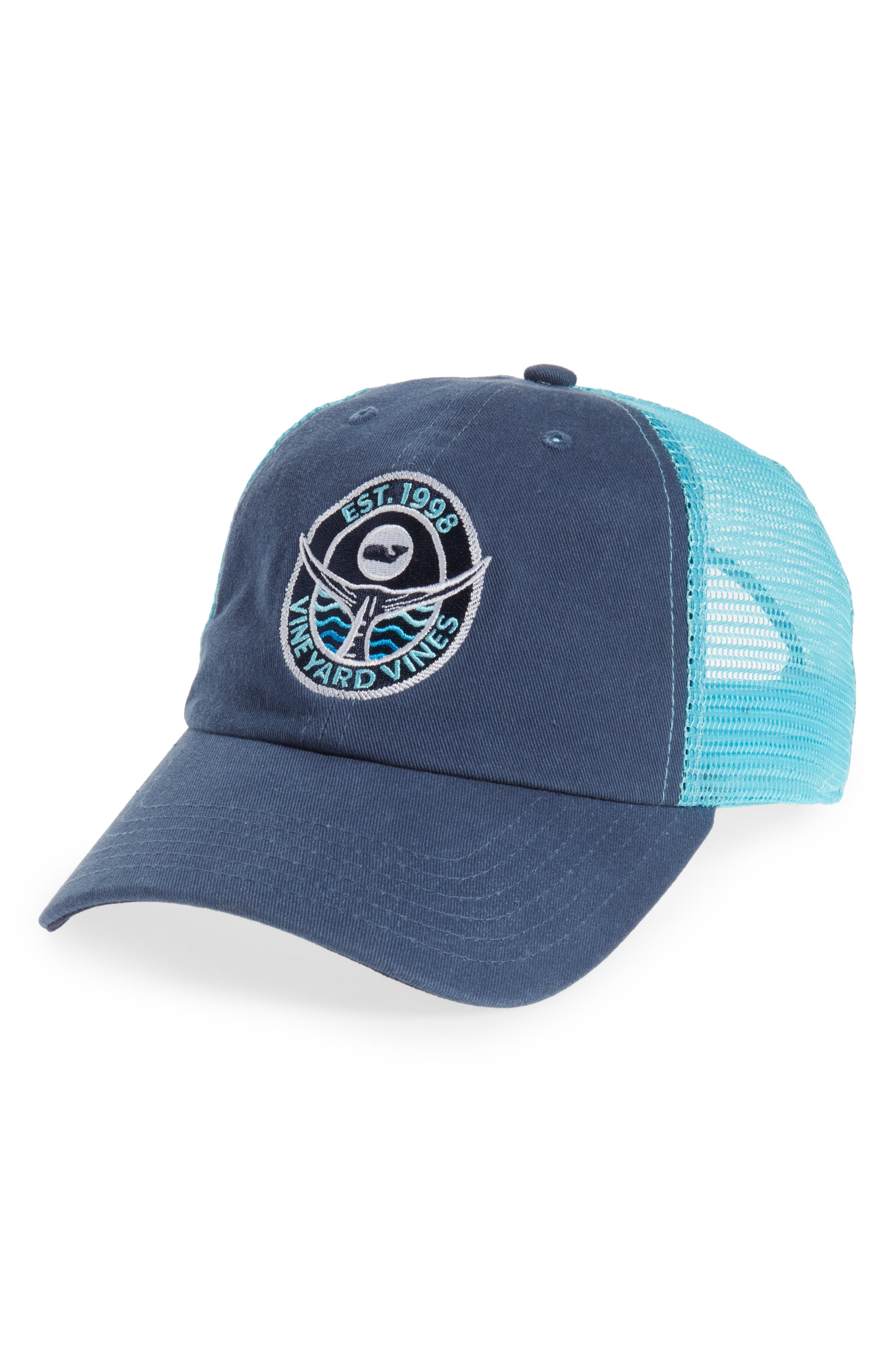 Tuna Tail Trucker Hat,                         Main,                         color, Moonshine