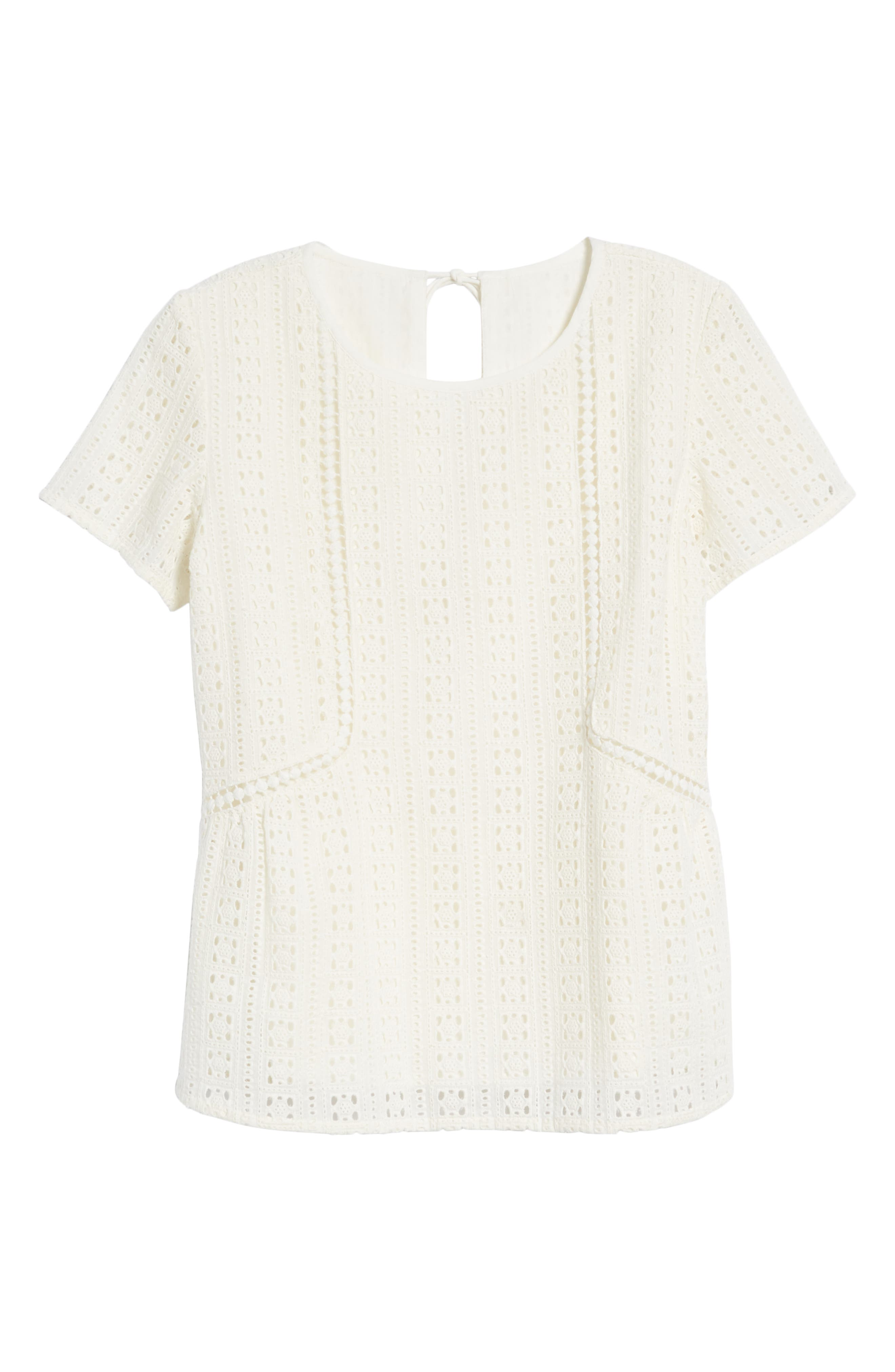 Clo Crochet Blouse,                             Alternate thumbnail 6, color,                             Off White