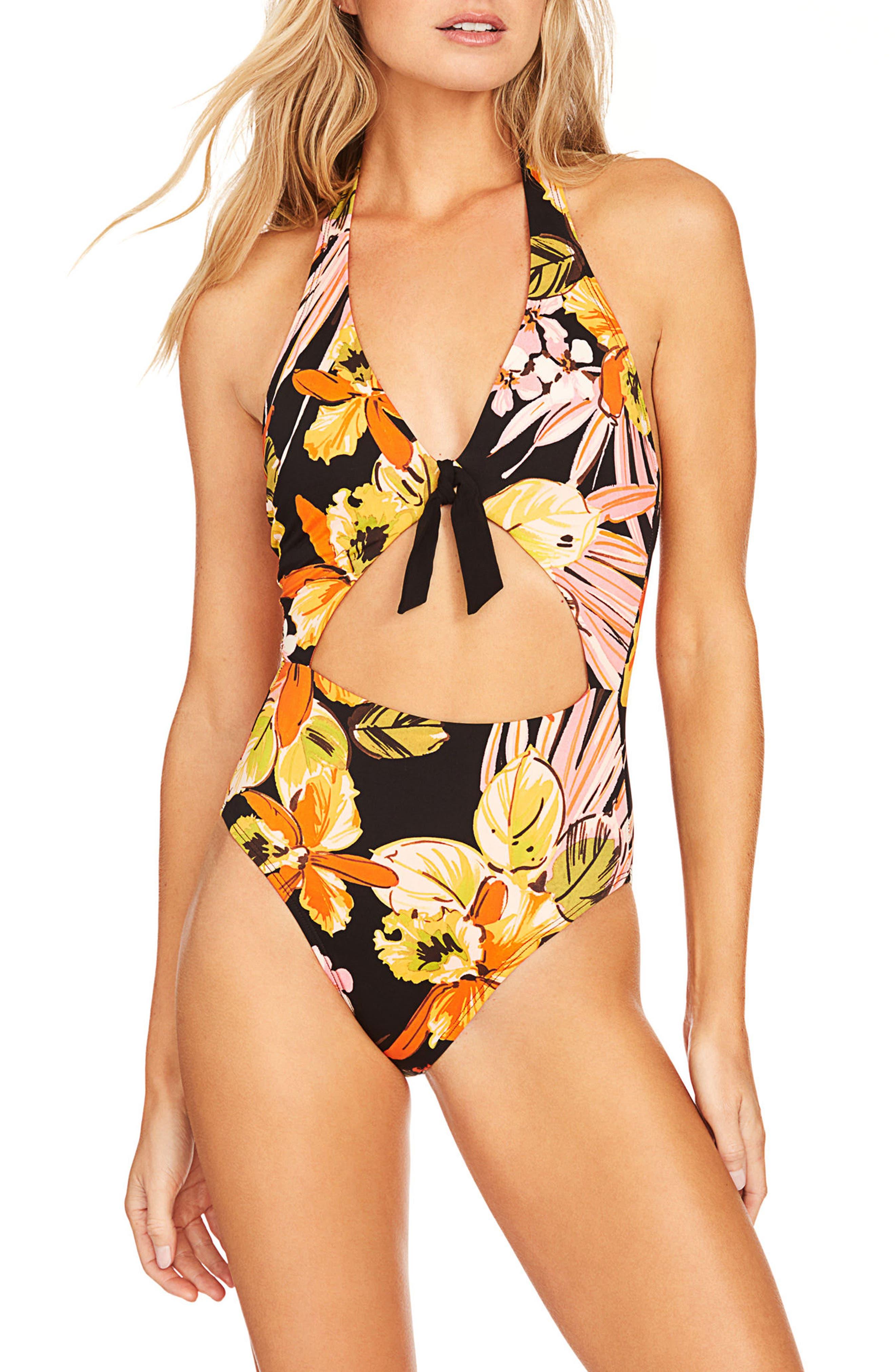 Robin Piccone Mila Halter One-Piece Swimsuit