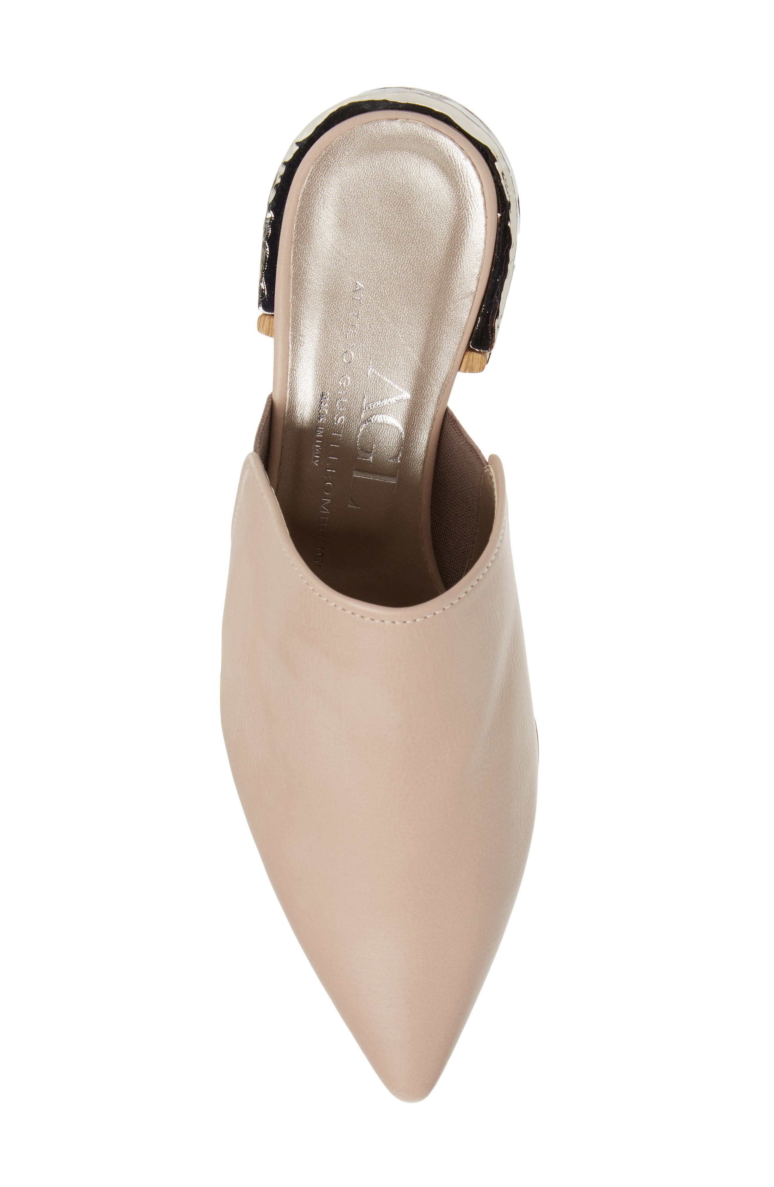 Pointed Toe Mule,                             Alternate thumbnail 5, color,                             Marble Leather