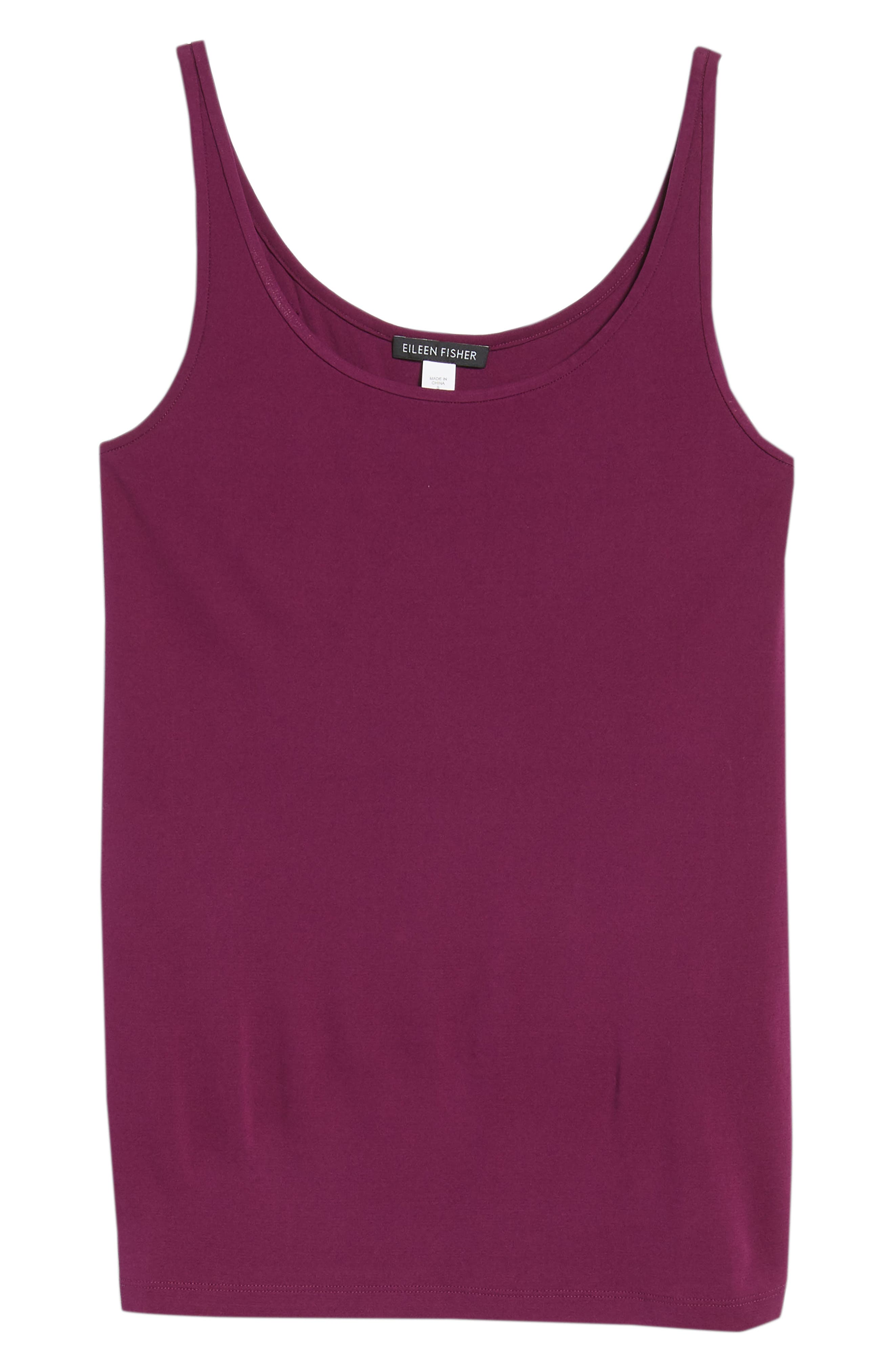 Long Scoop Neck Camisole,                             Alternate thumbnail 7, color,                             Boysenberry