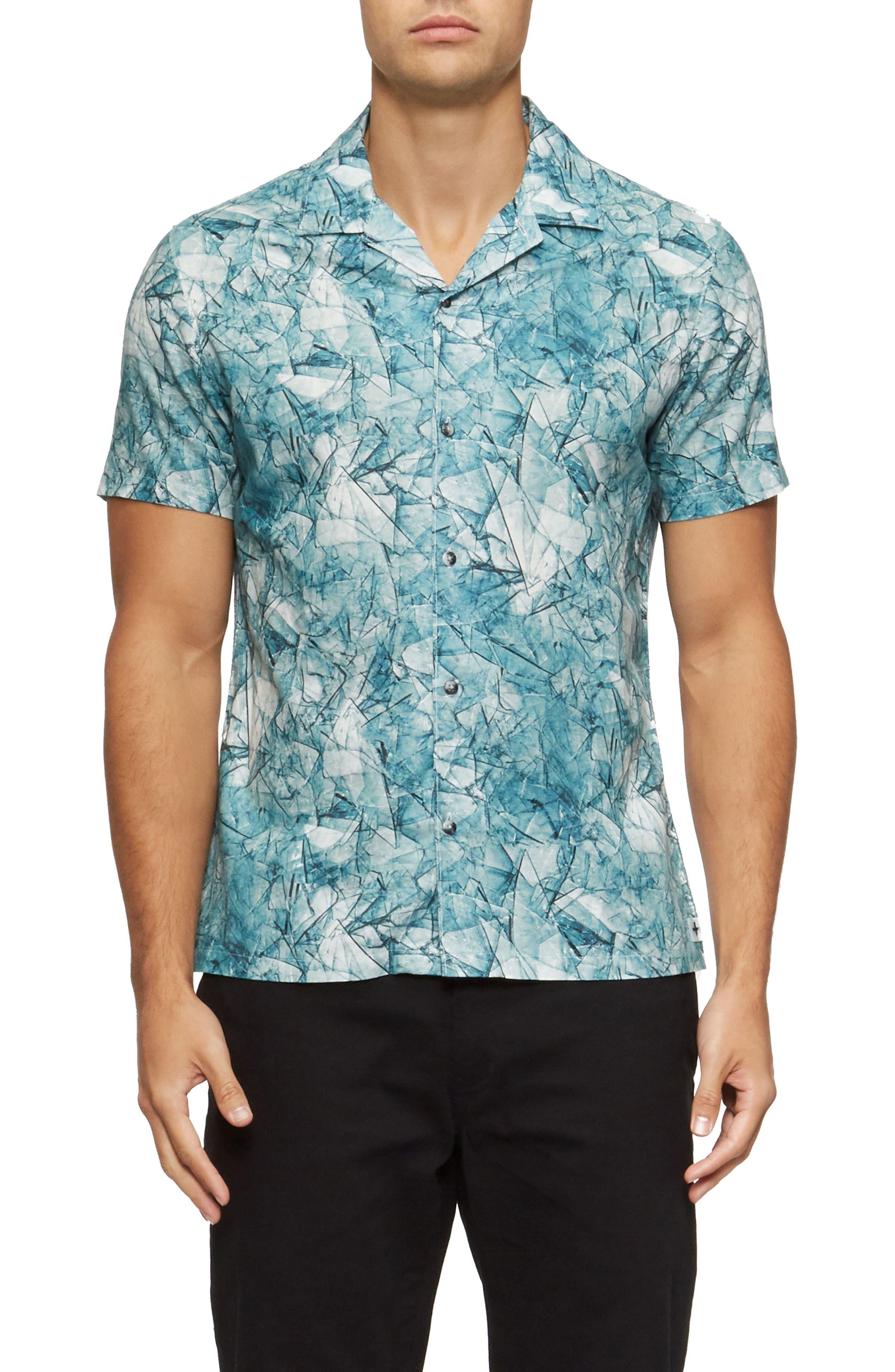 Shoto Short Sleeve Shirt,                         Main,                         color, Shattered Blue