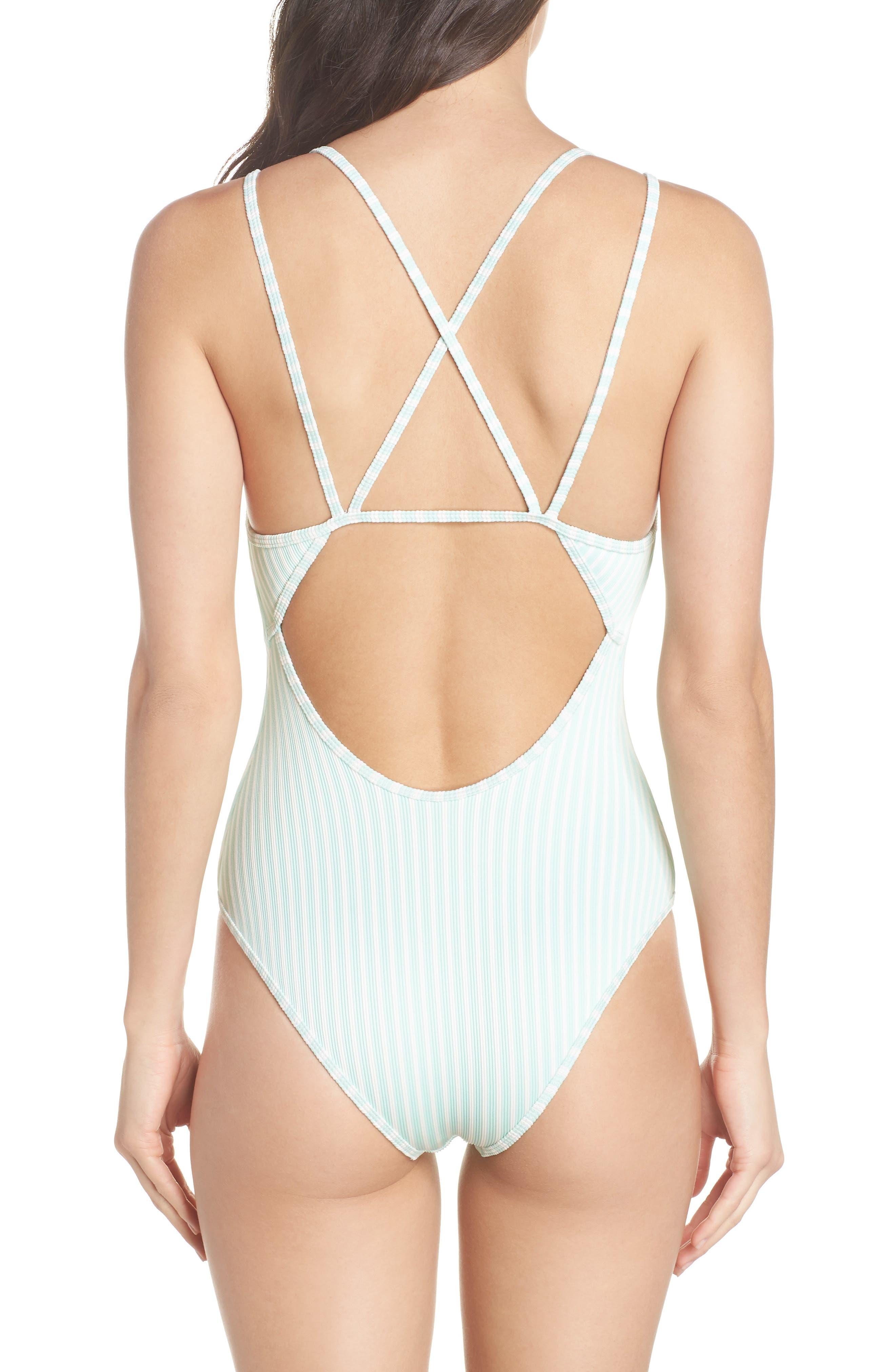 Dakota One-Piece Swimsuit,                             Alternate thumbnail 2, color,                             Spearmint