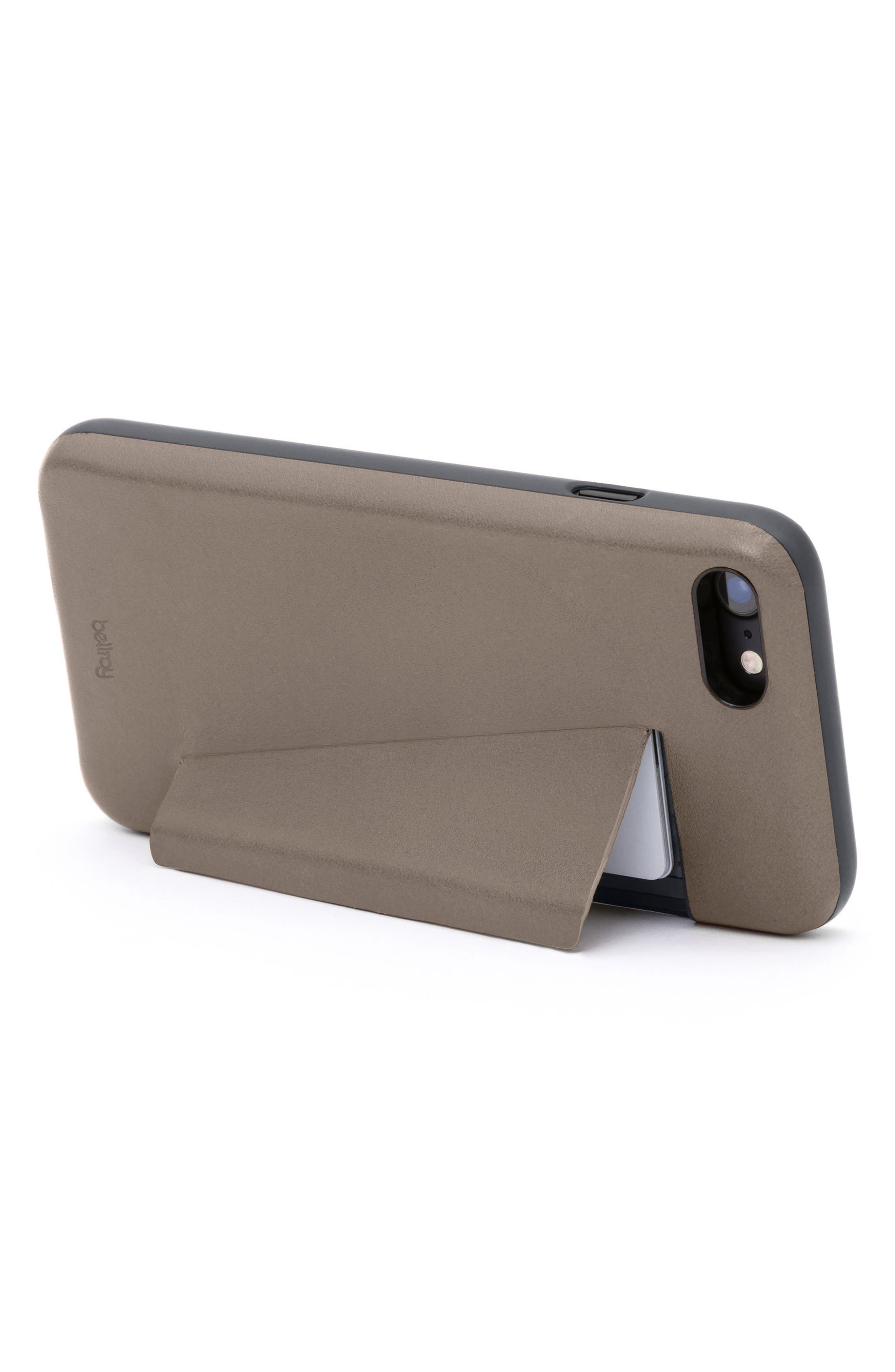 iPhone 7/8 Case with Card Slots,                             Alternate thumbnail 3, color,                             Stone