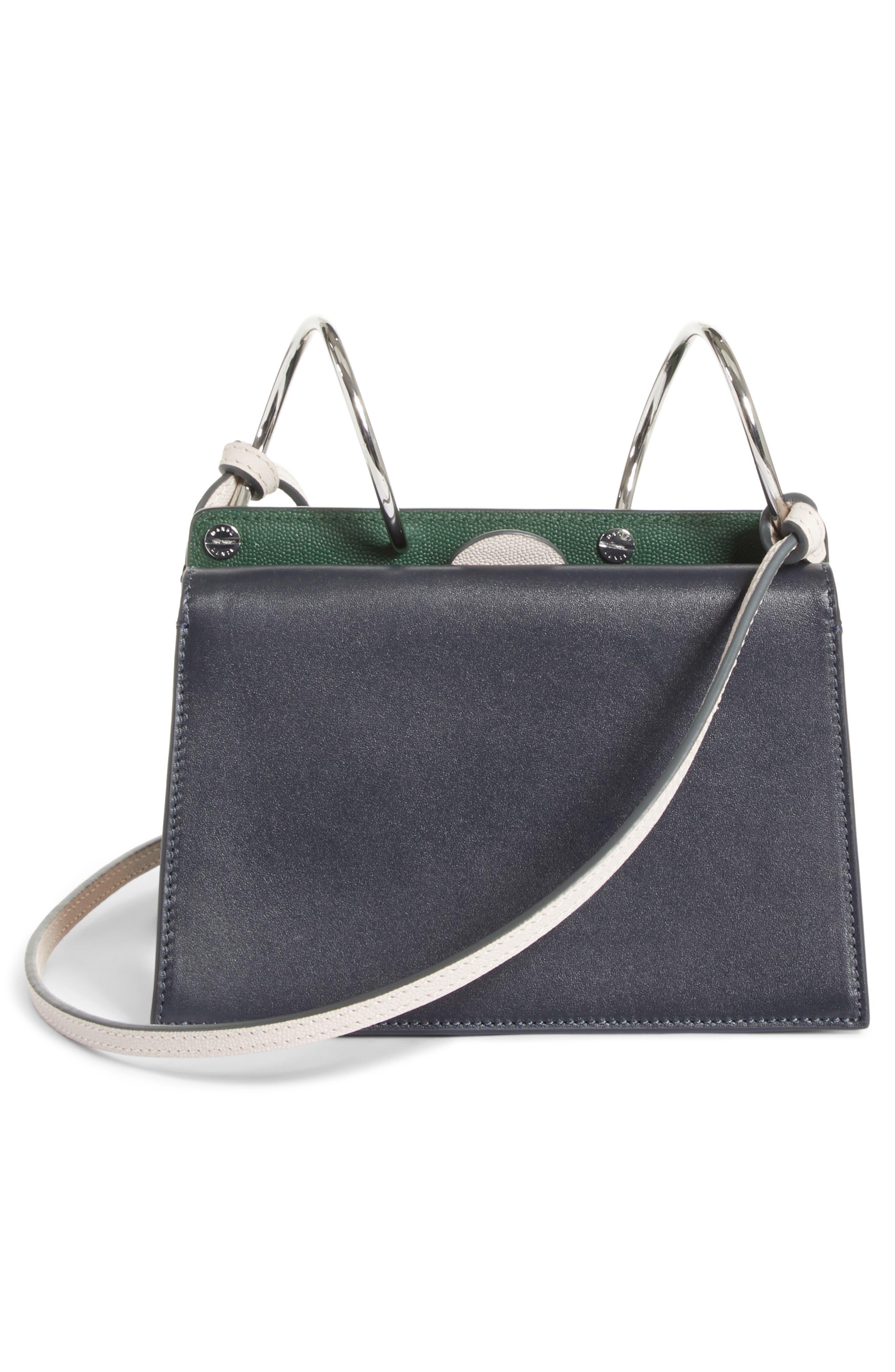Mini Phoebe Leather Bag,                             Alternate thumbnail 3, color,                             Pine-Marine