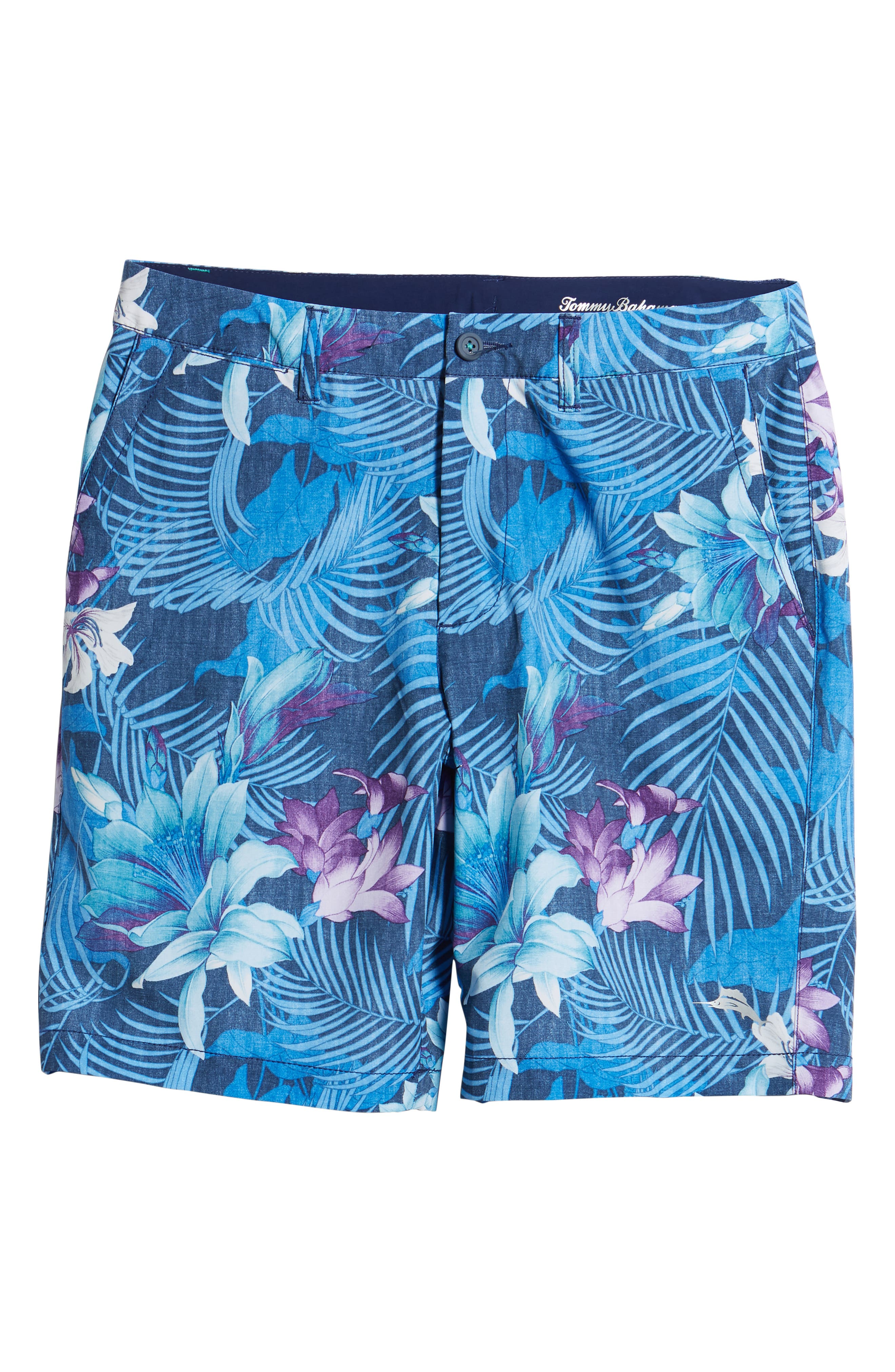 Cayman Laredo Blooms Board Shorts,                             Alternate thumbnail 6, color,                             Ocean Deep